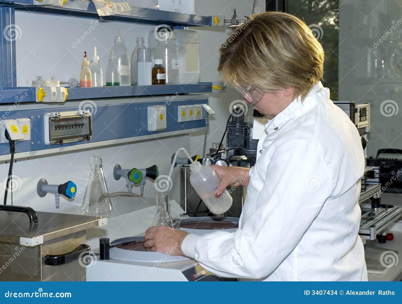 Het werk in laboratorium