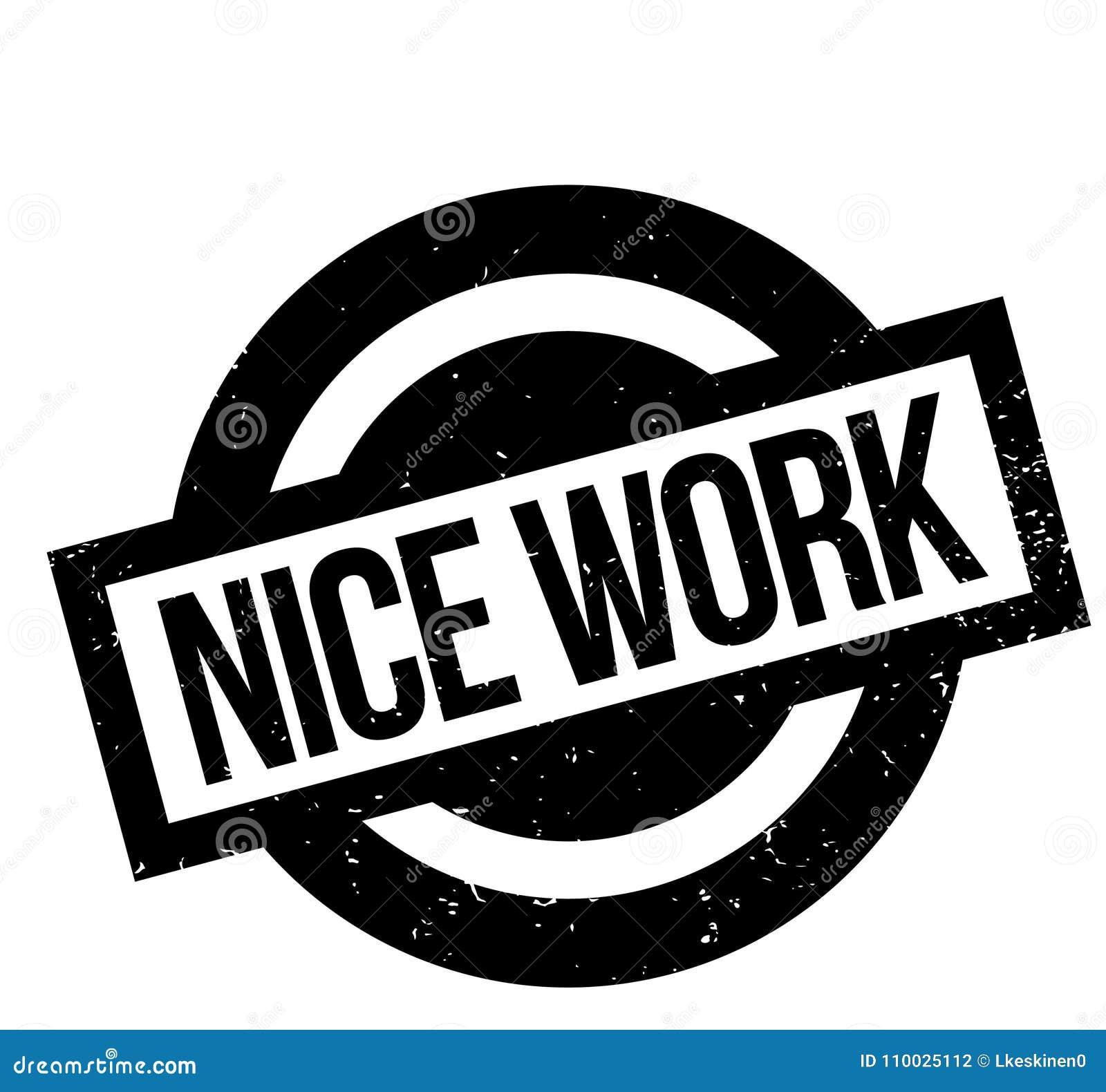 Het Werk rubberzegel van Nice