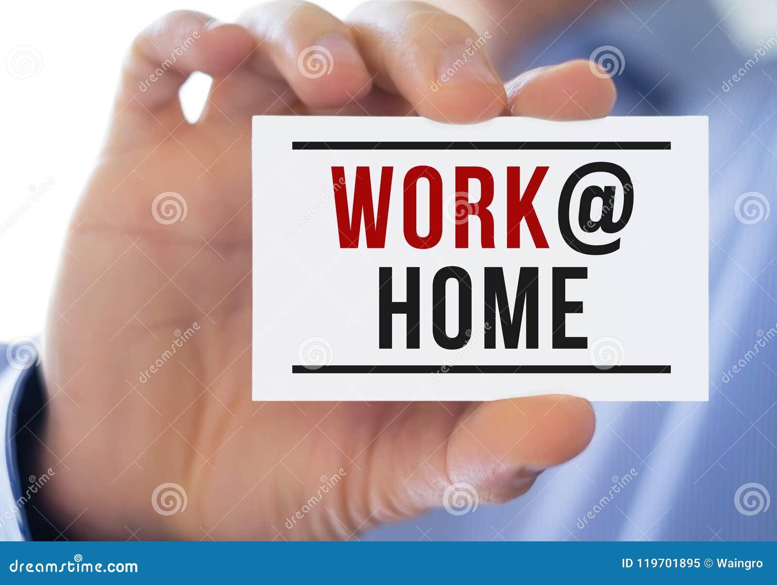 Het werk thuis