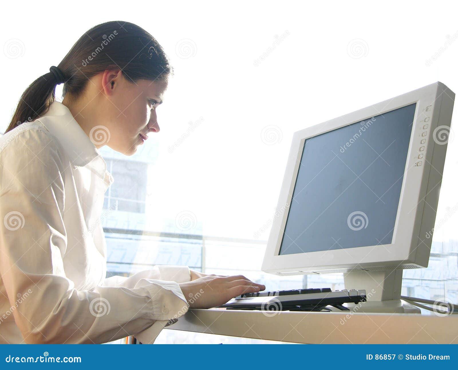 Het werk van de computer