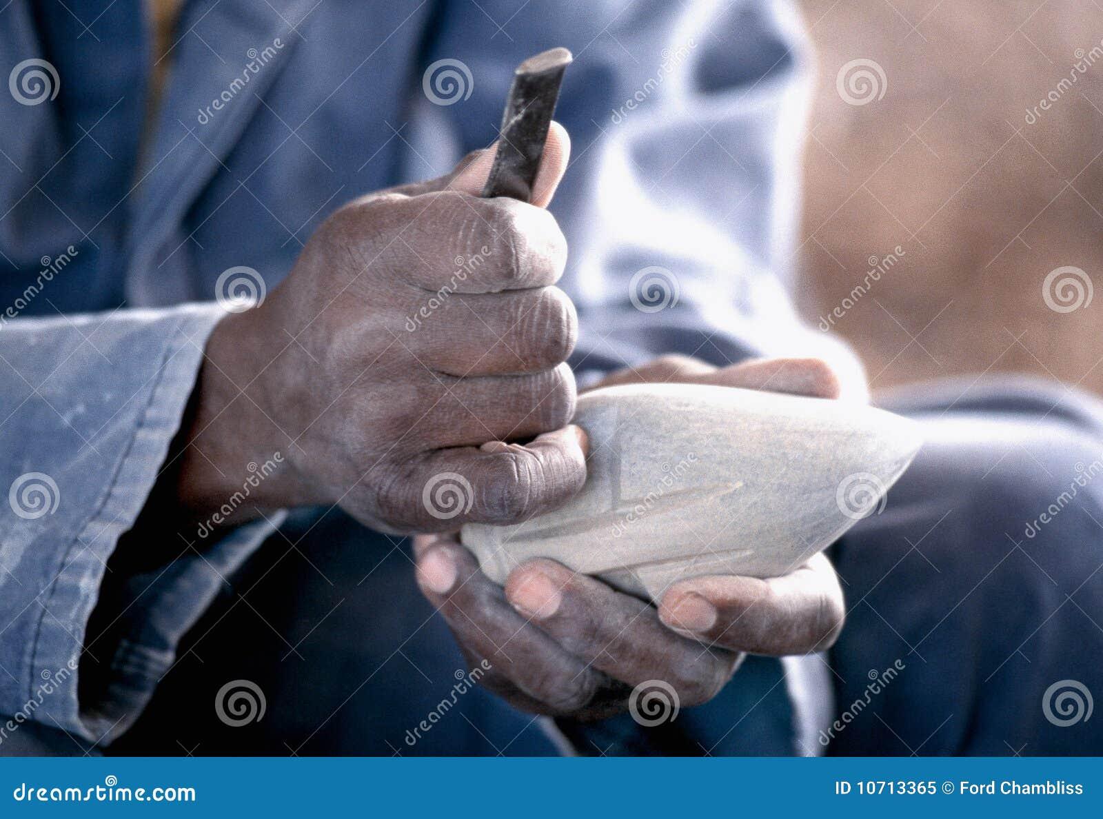 Het werken bemant Hand