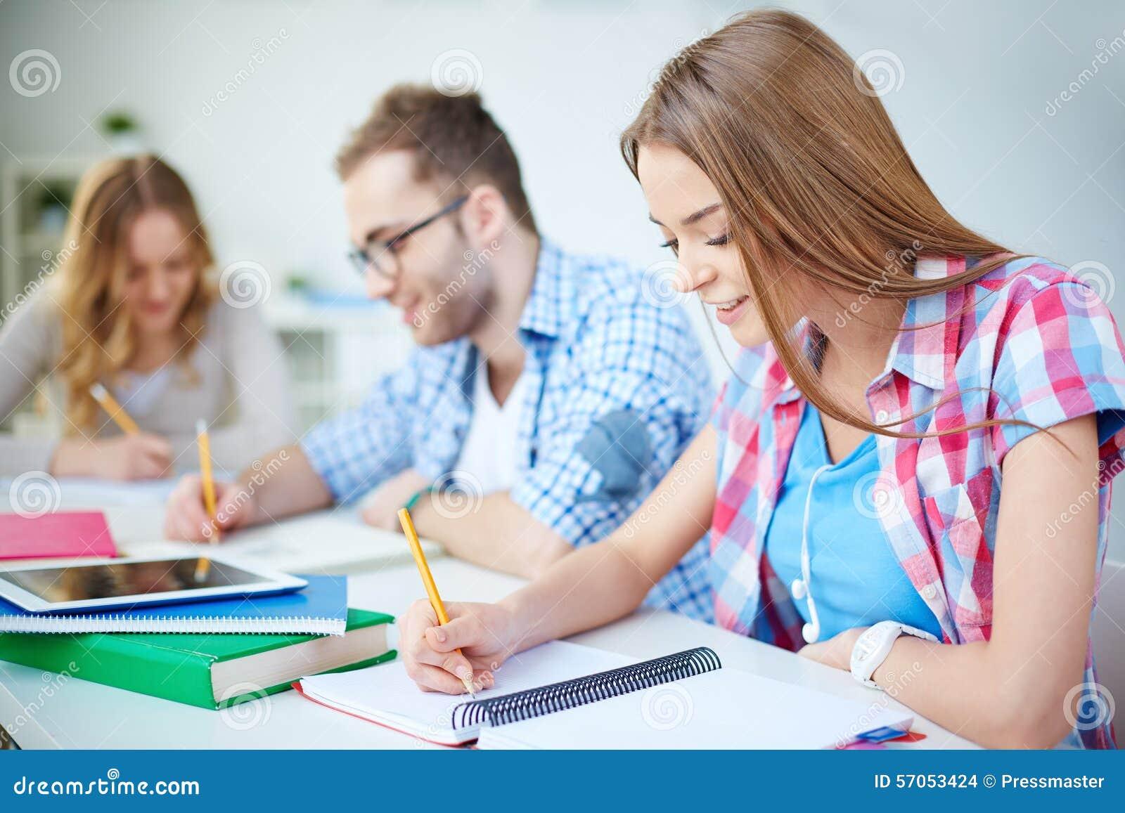 Het werken bij les