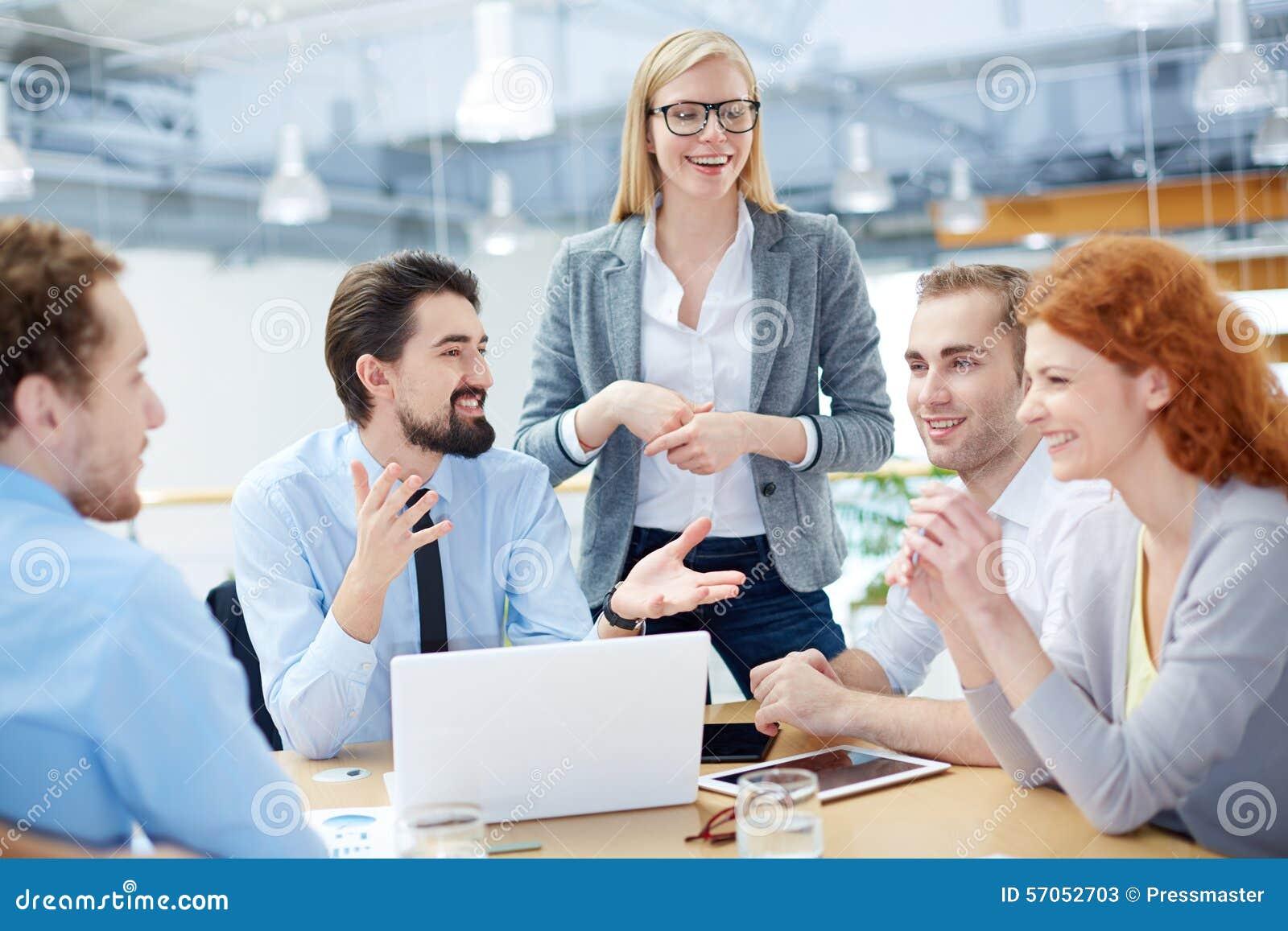 Het werken op vergadering