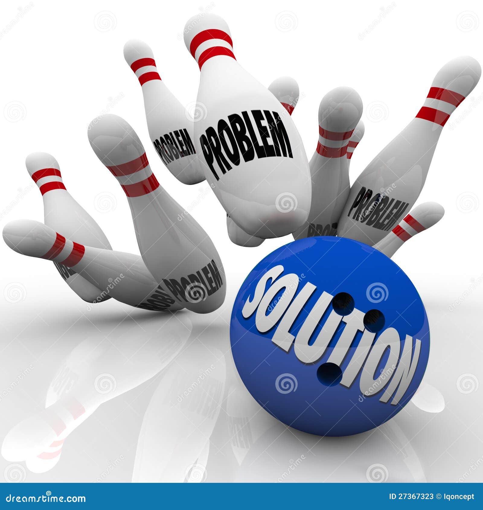 Het Werpen van het probleem de Oplossing Opgeloste Spelden van de Bal