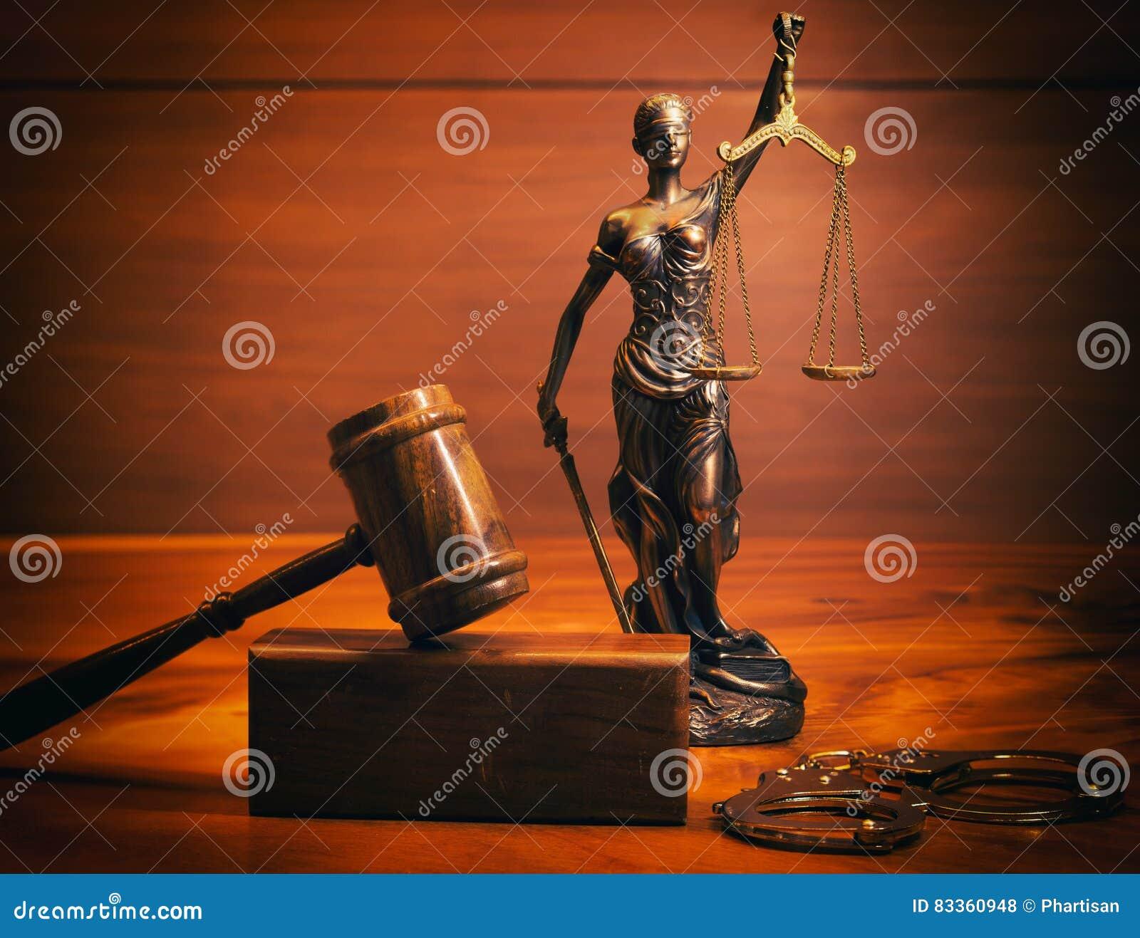 Het wettelijke beeld van het wetsconcept met Schalen van rechtvaardigheid