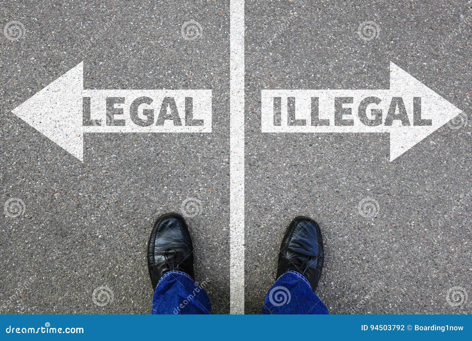 Het wettelijke onwettige besluit zakenman van het bedrijfsmensenconcept verbiedt