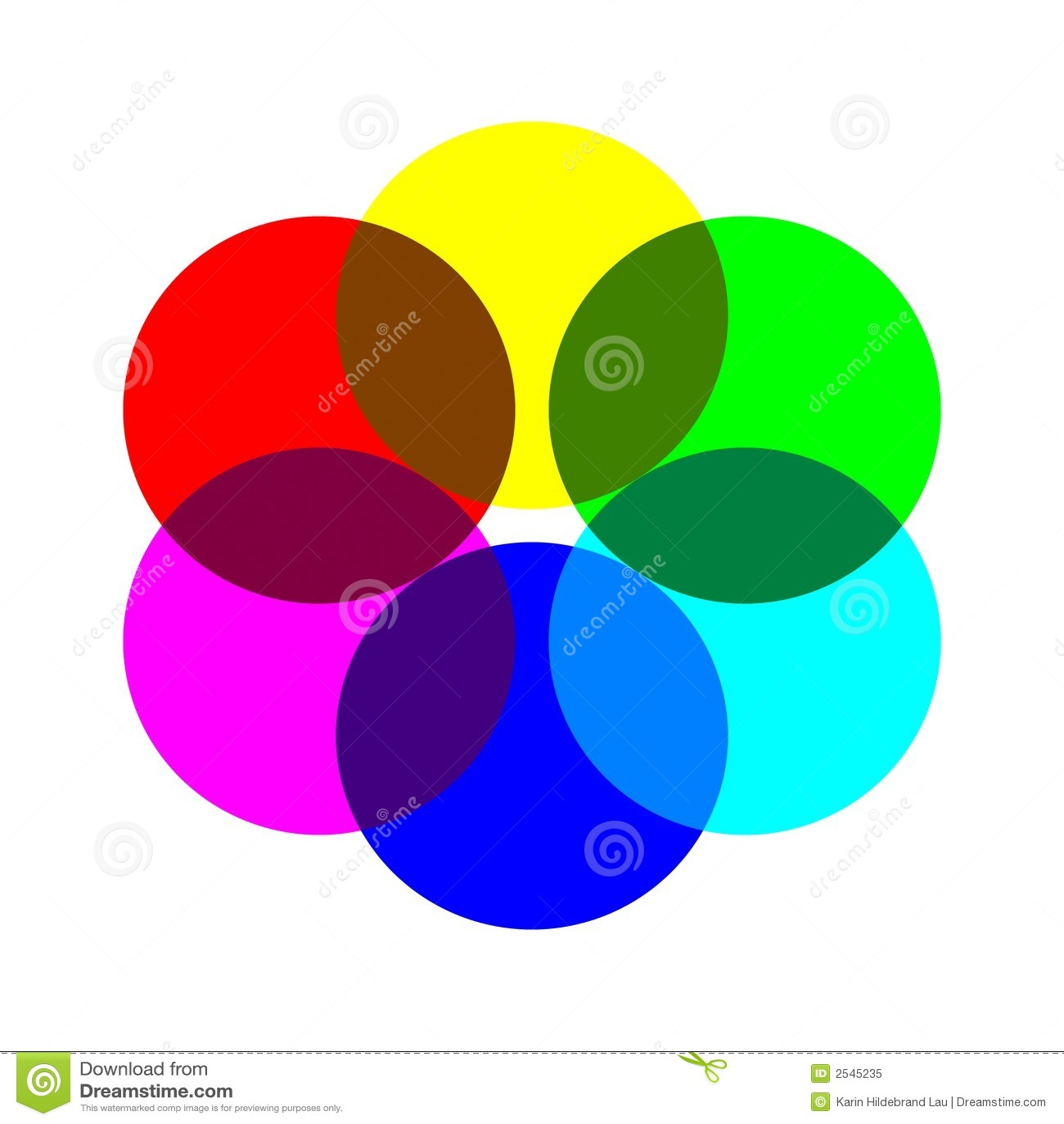 Het Wiel van zes Kleur