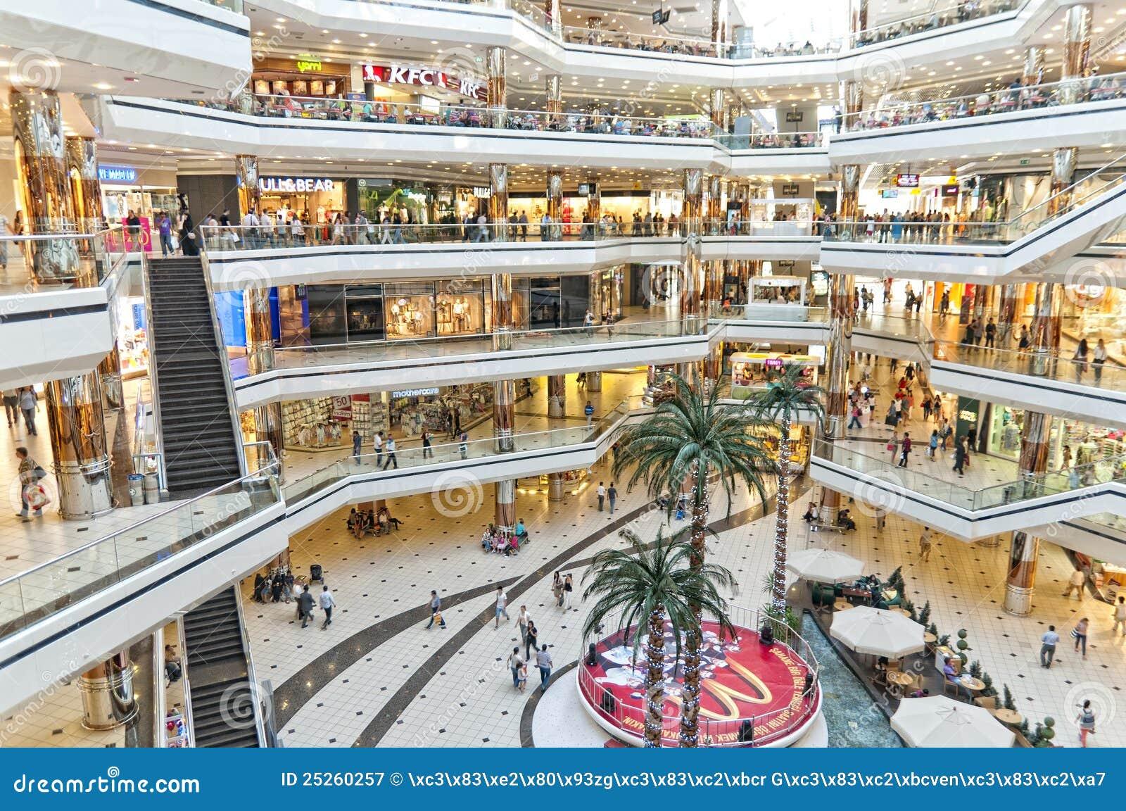 Het Winkelcentrum van Cevahir, Istanboel, Turkije