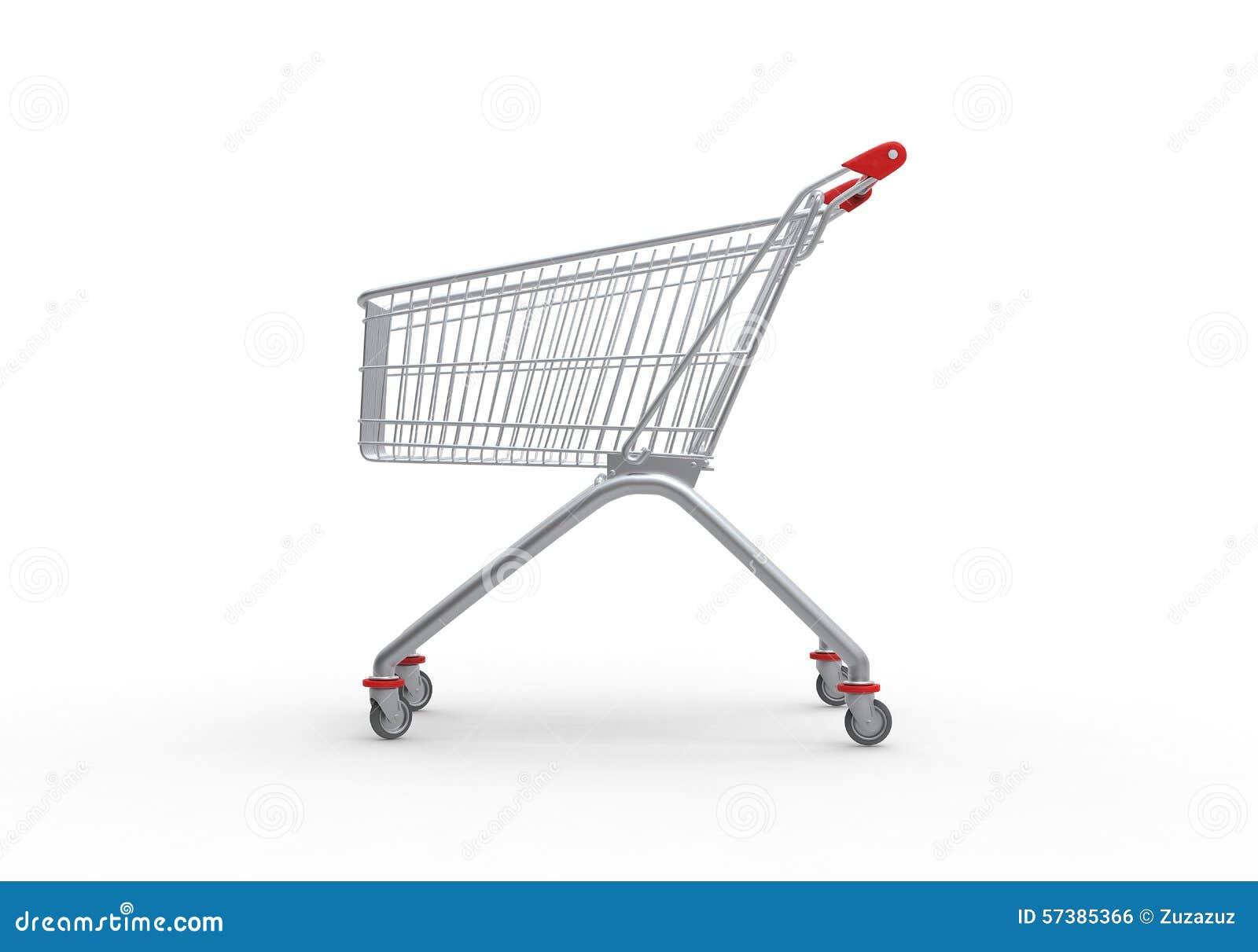 Het winkelen 3d karretje, geeft terug