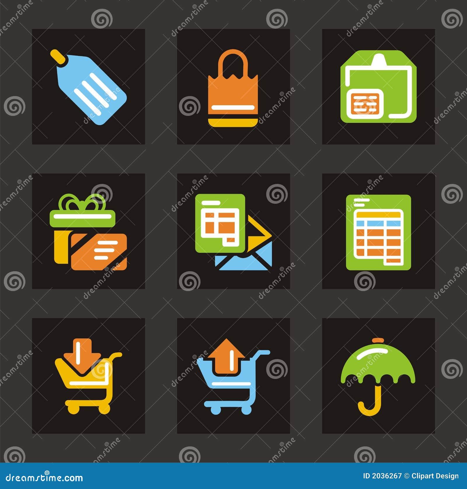 Het winkelen en van de Handel Pictogrammen