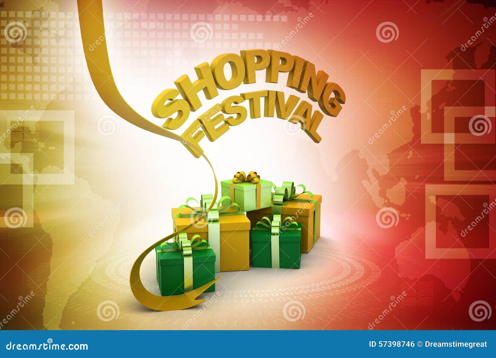 Het winkelen het concept van de festivalaanbieding