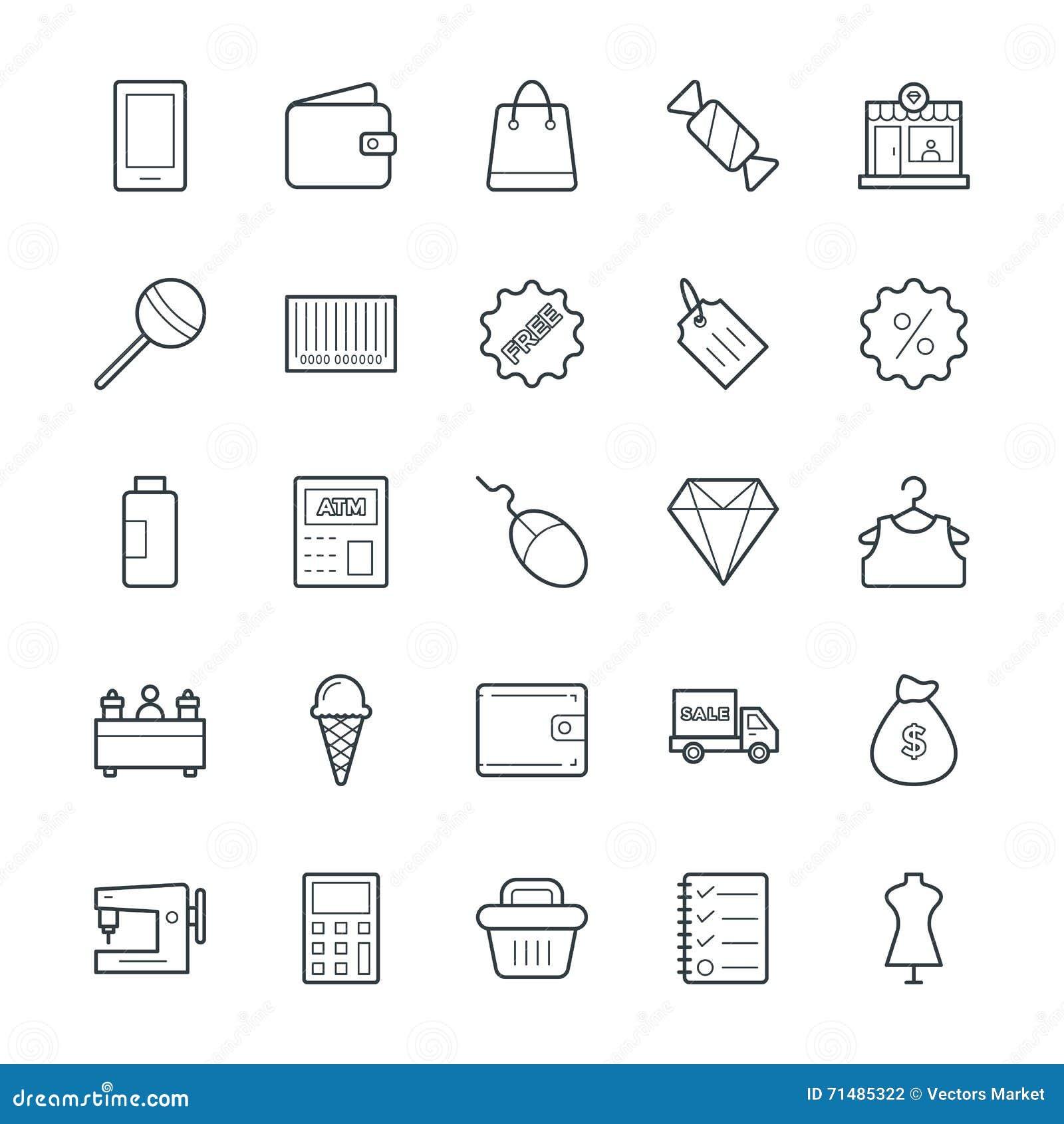 Het winkelen Koele Vectorpictogrammen 2