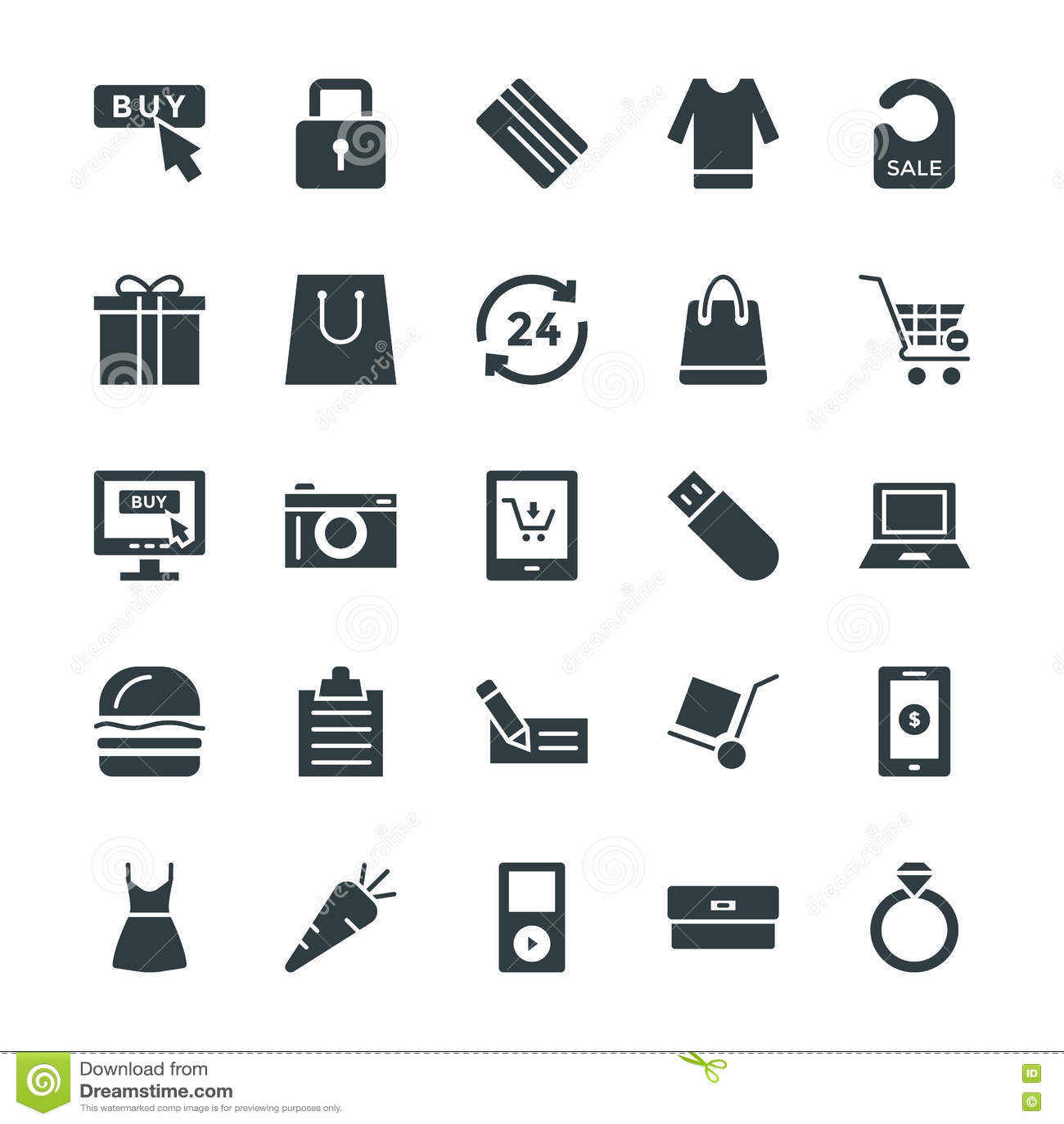 Het winkelen Koele Vectorpictogrammen 4