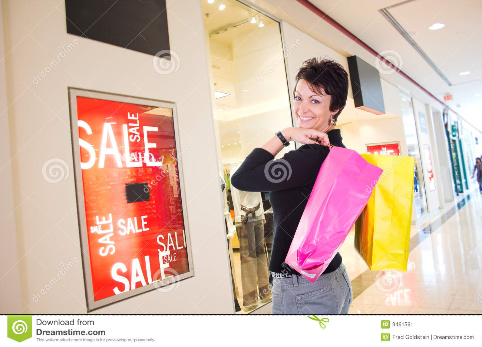 Het winkelen van de vrouw