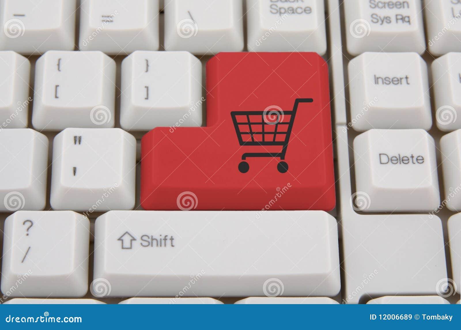 Het winkelen van Internet