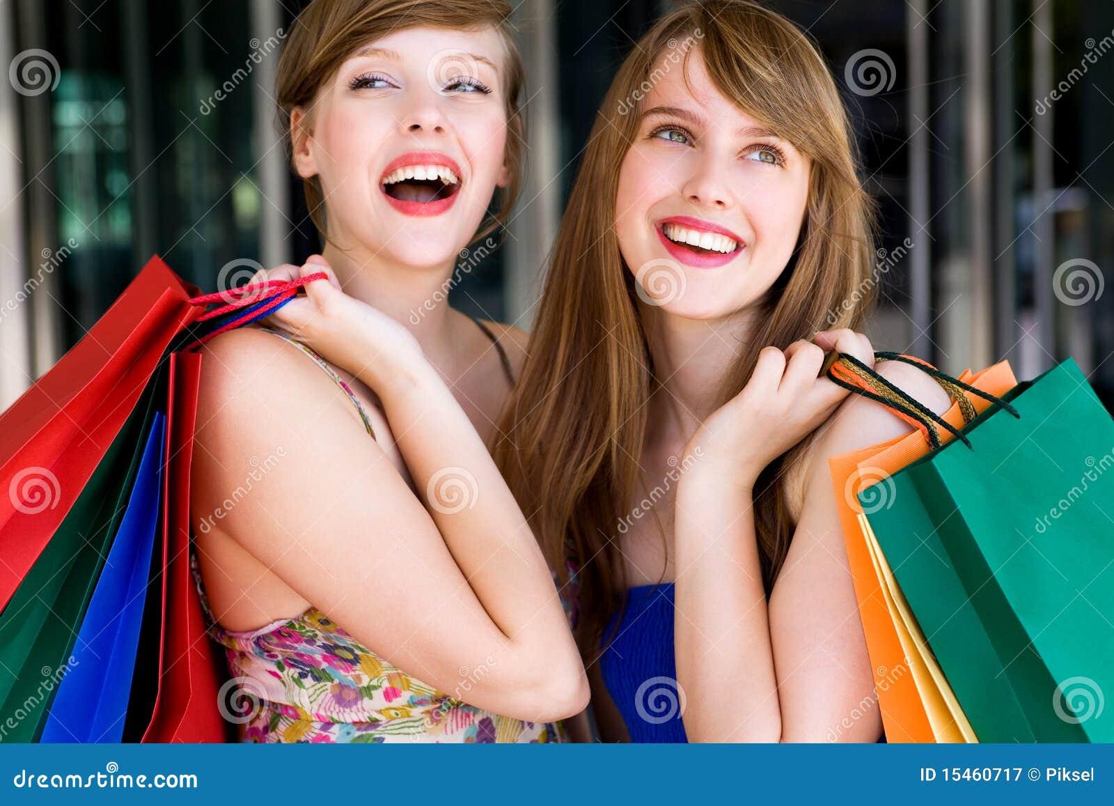 Het Winkelen van vrouwen