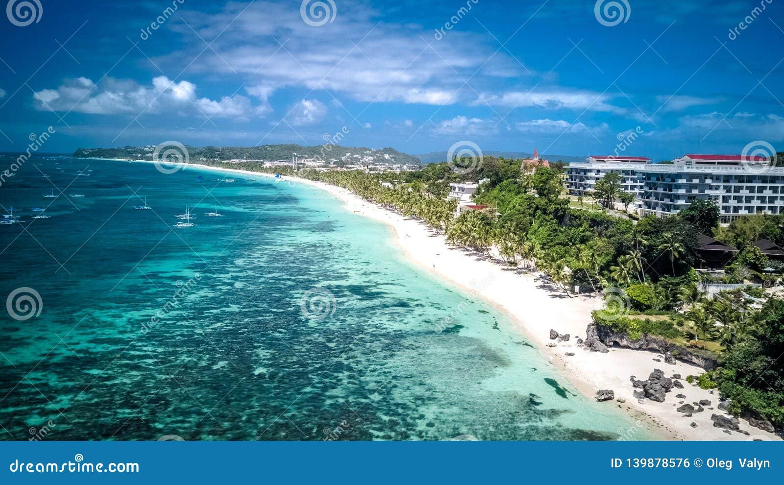 Het witte Eiland Filippijnen Tropisch Paradise Azië van Strandboracay