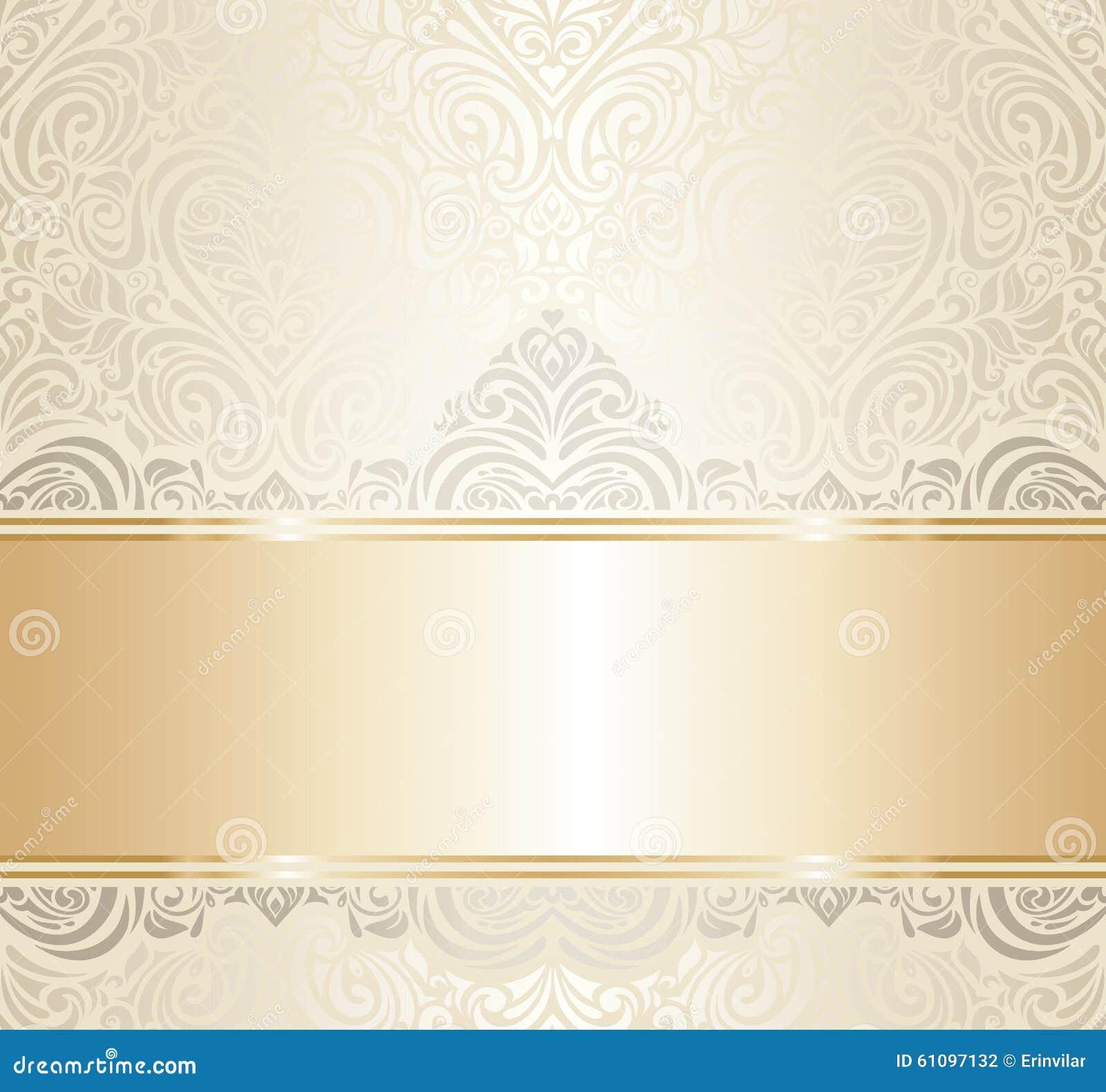 Het witte & gouden uitstekende ontwerp van de uitnodigingsluxe
