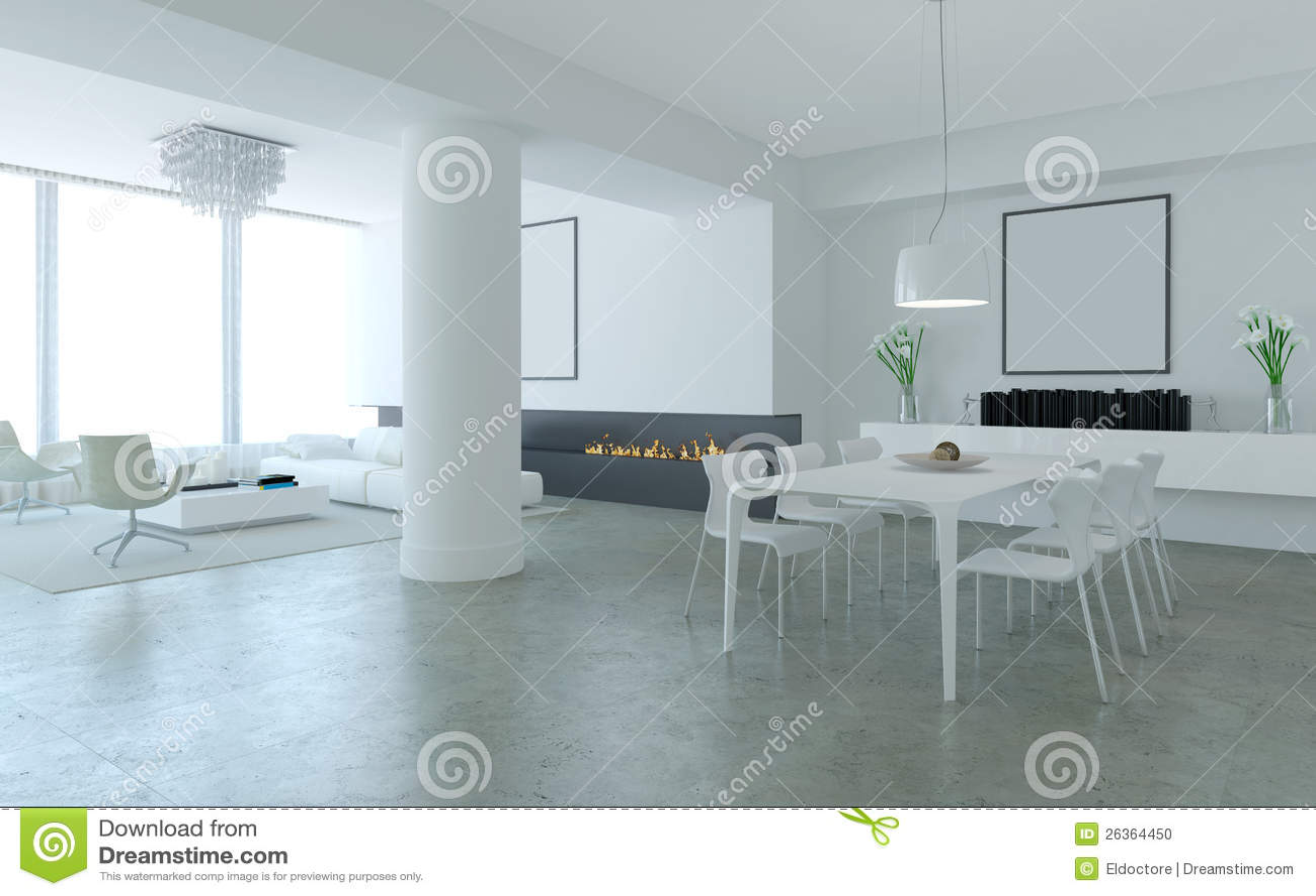 Woonkamer modern bruin - Moderne eetkamer en woonkamer ...
