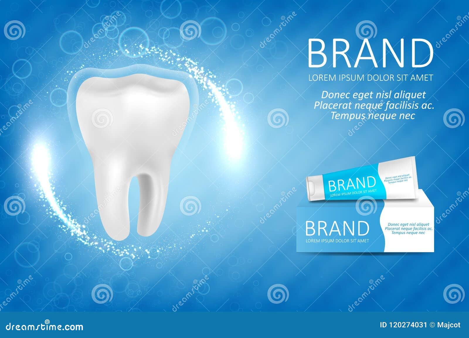 Het witten van tandpastaadvertentie