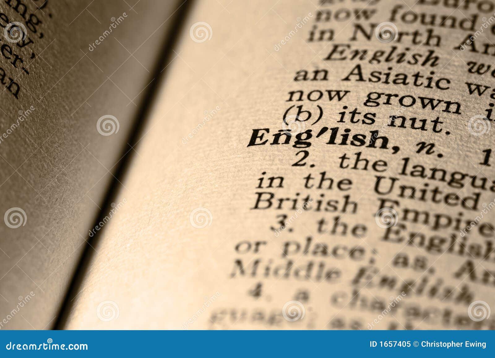 Het woord het Engels