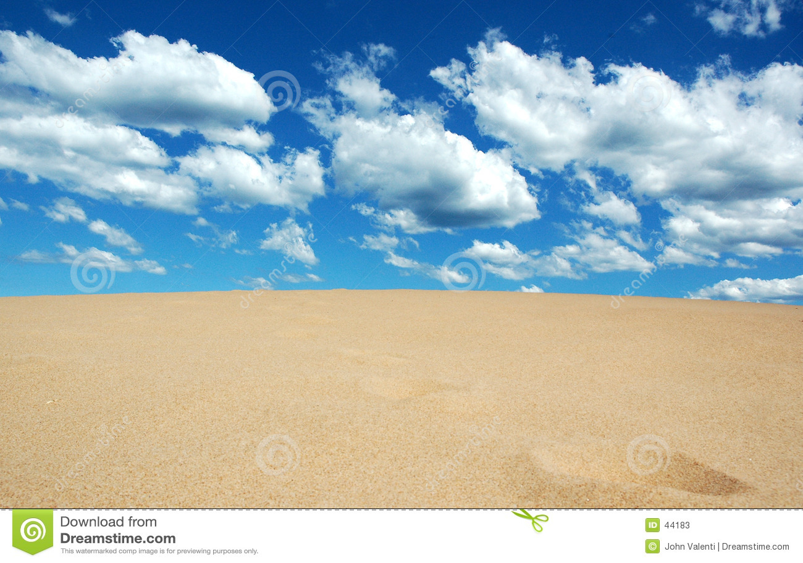 Het zand ontmoet Hemel