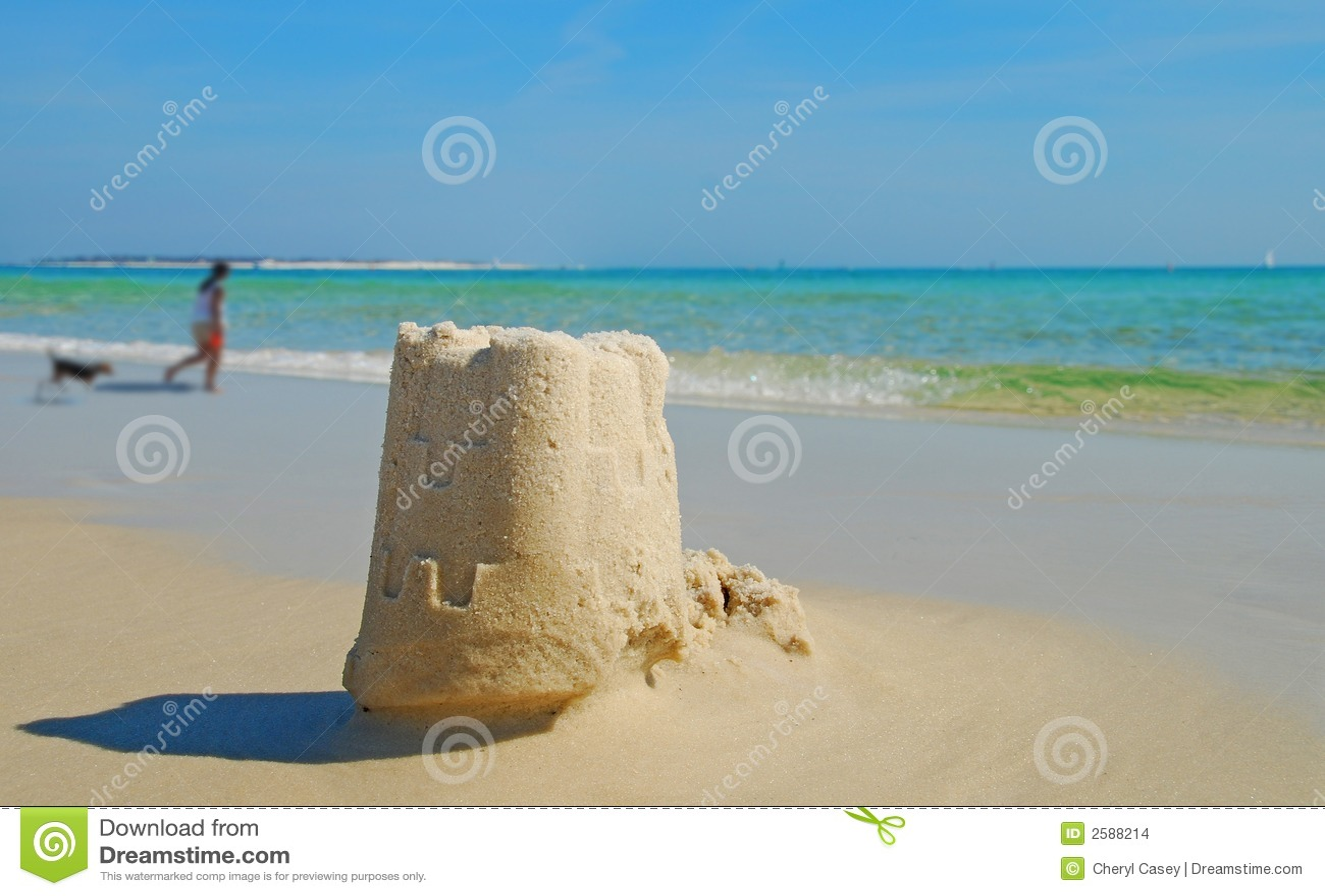 Het Zandkasteel en de Hond van het strand