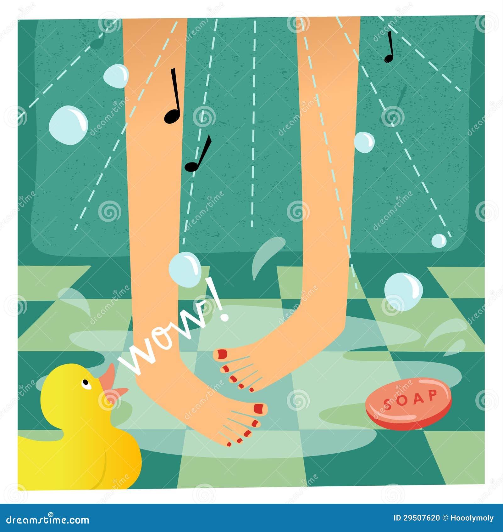 Het zingen in de douche