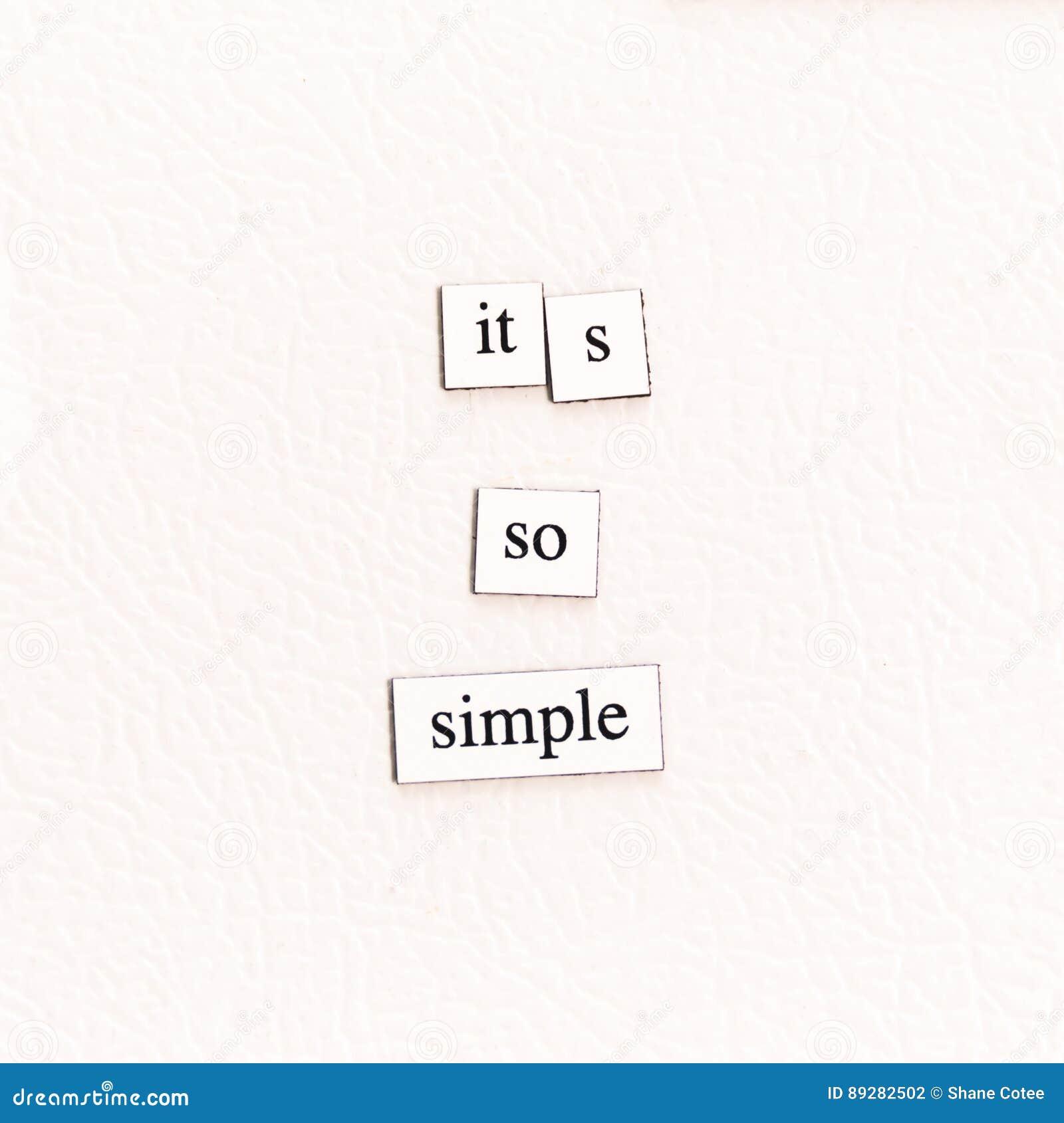 Het zo Eenvoudige ` s