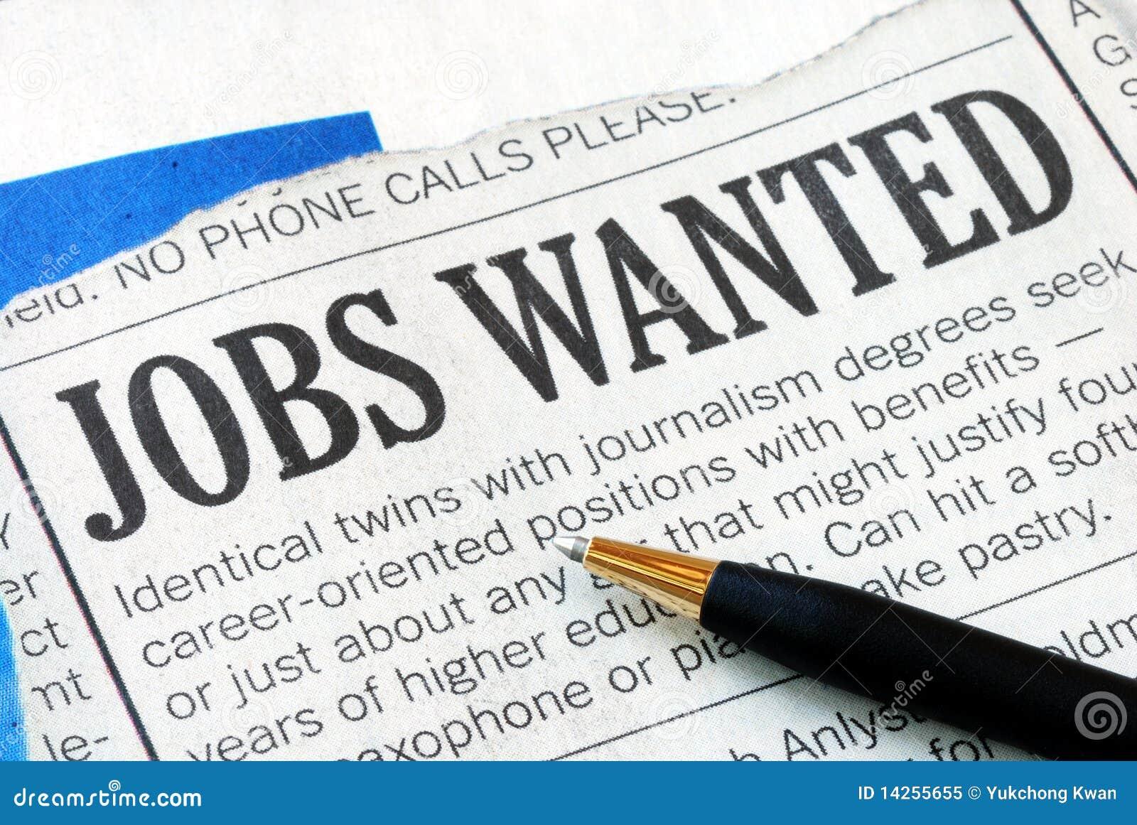 Het zoeken naar een baan