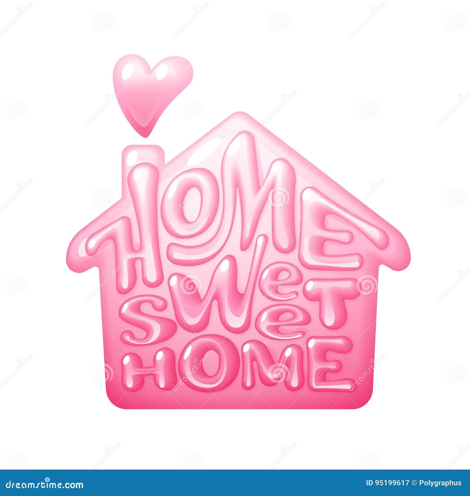 Het Zoete Huis van het huis Het vector lettring met huisvorm