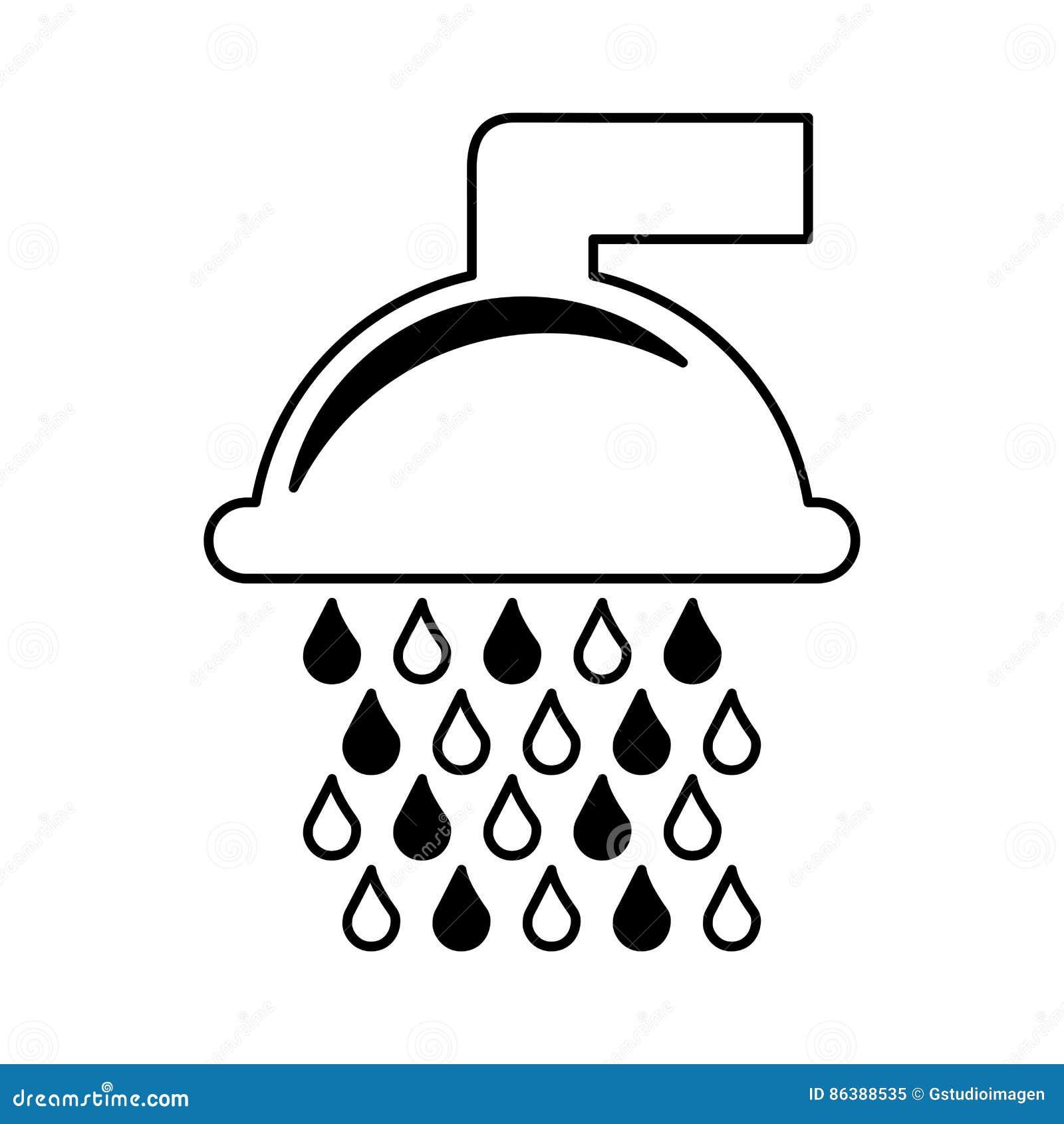 Het zuivere pictogram van de waterkraan