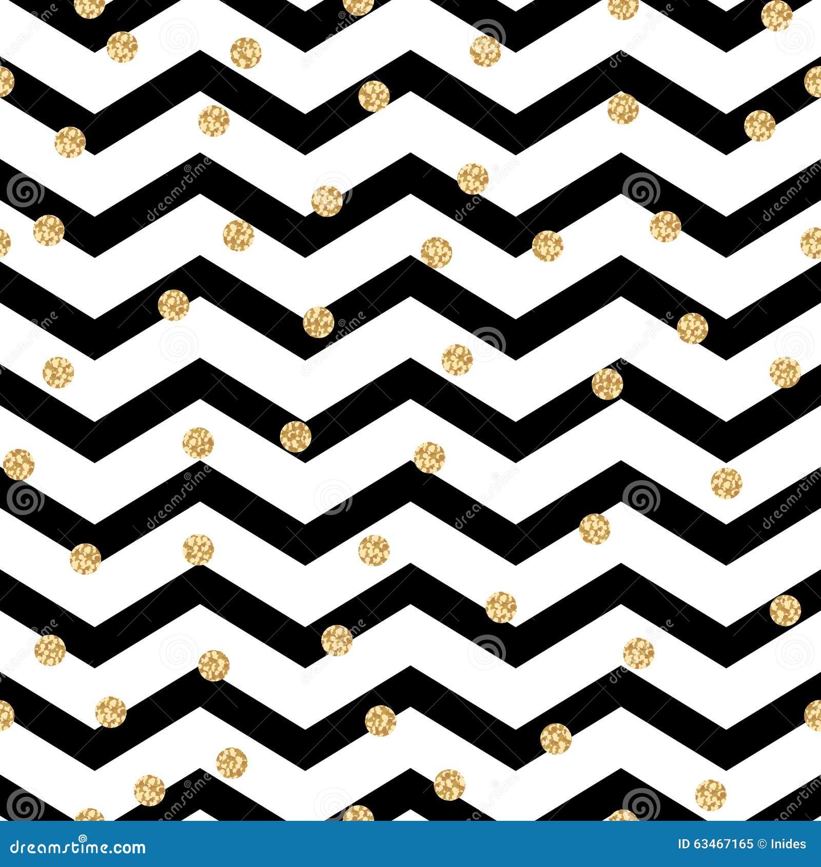 Het zwart-witte naadloze patroon van de chevronzigzag