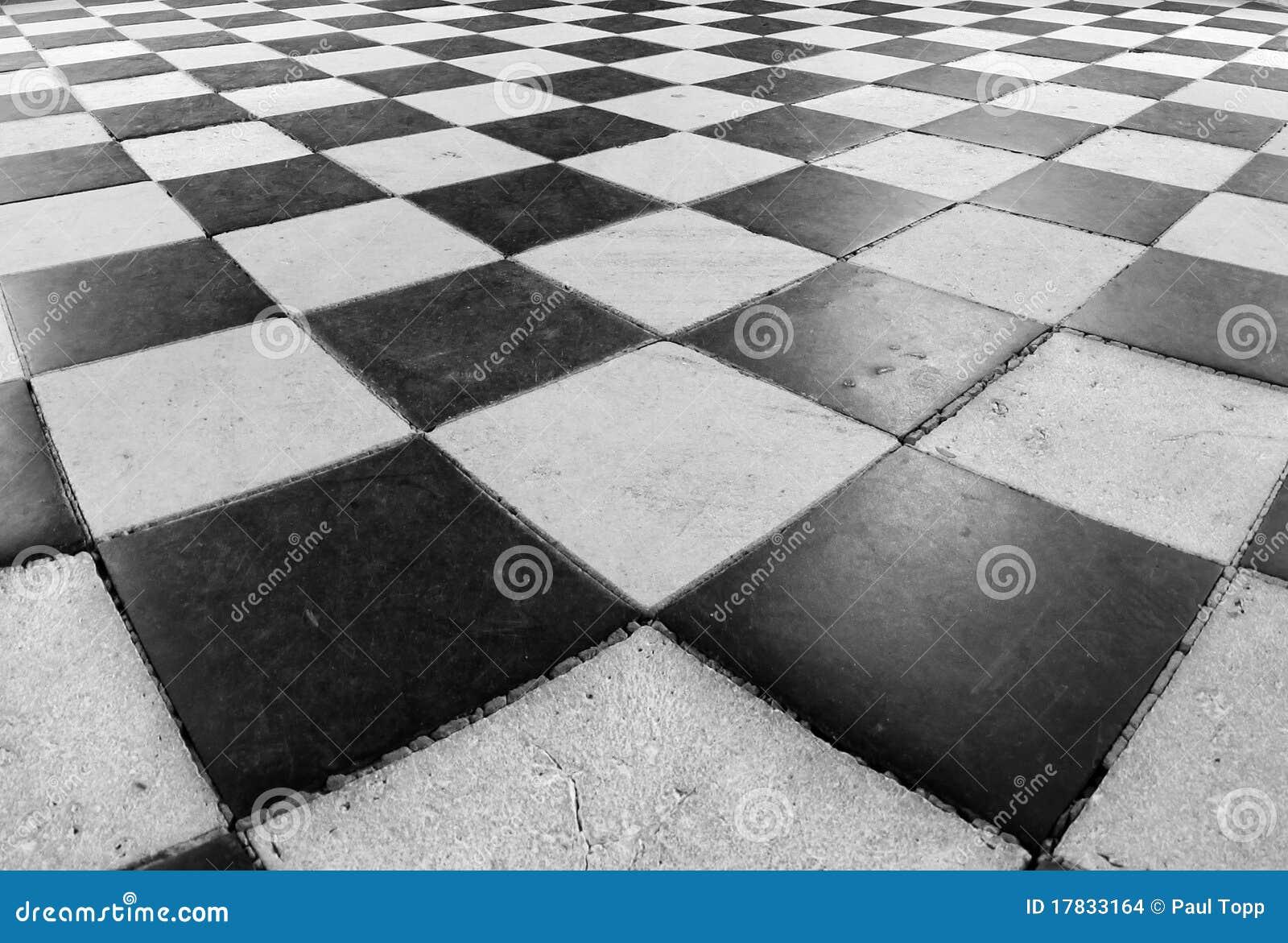 het zwartwitte patroon van de tegel van de vloer van de