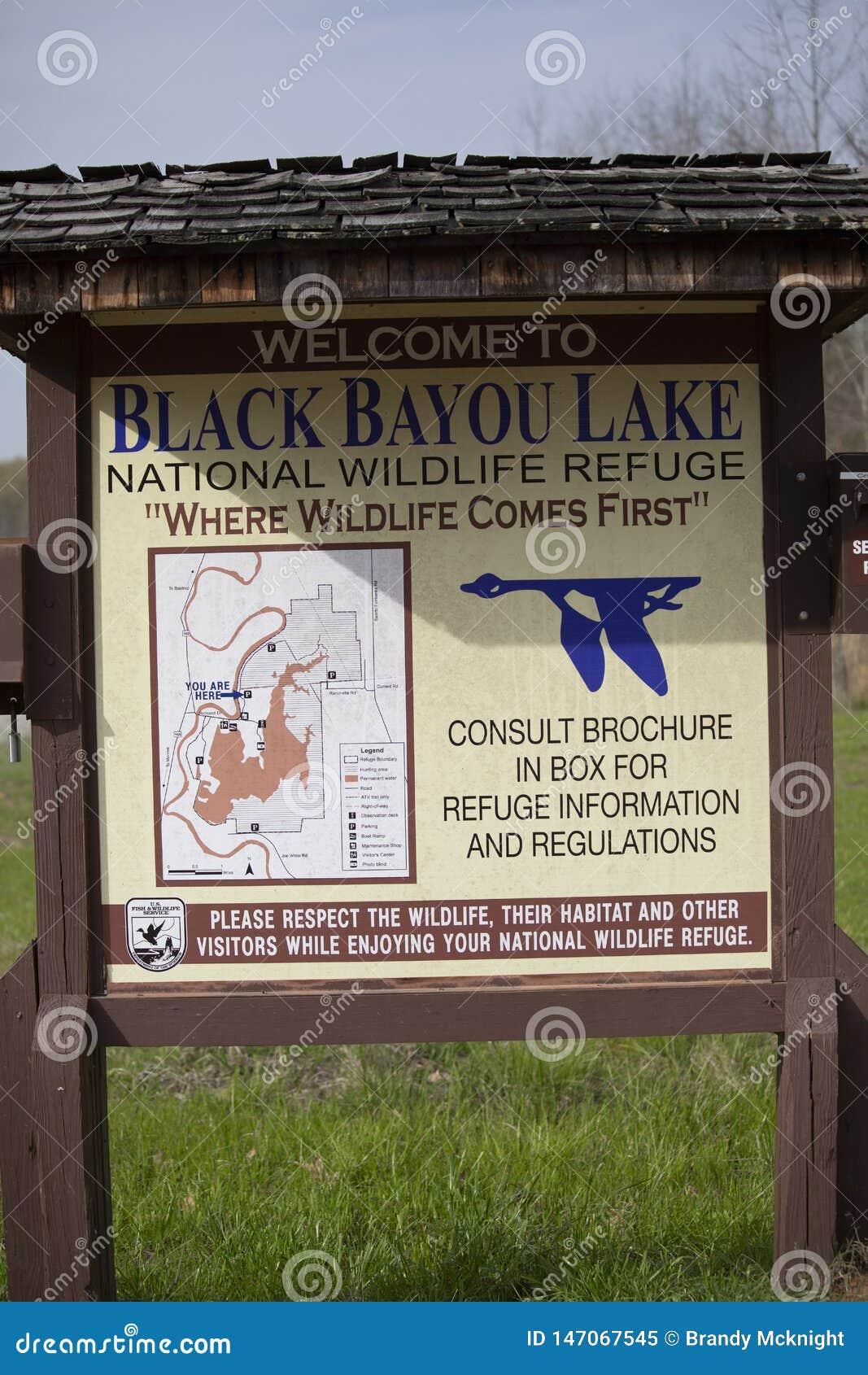 Het zwarte Bayou-Teken van het de Jachtgebied