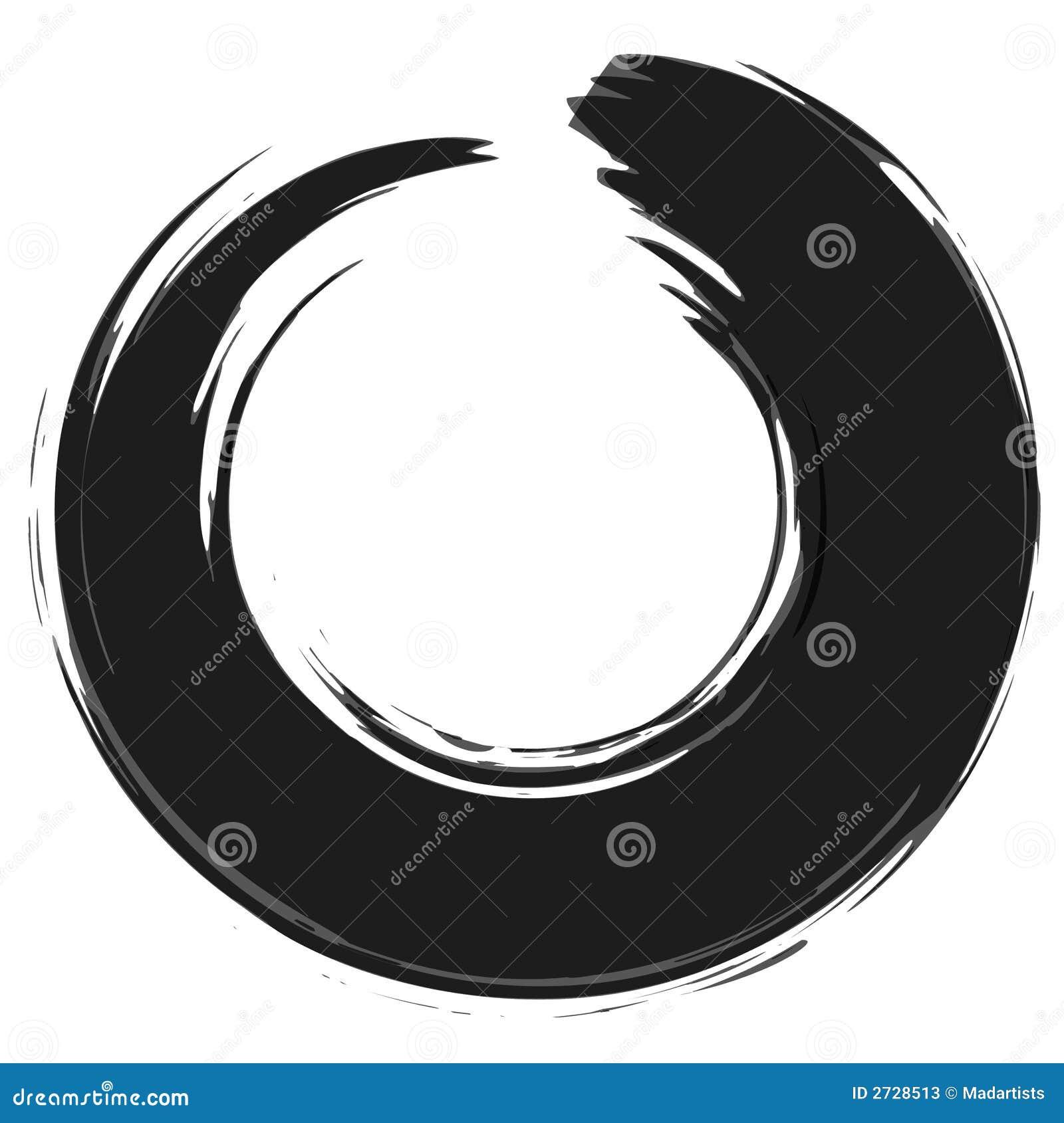 Het zwarte Gat van de Cirkel van de Ring van de Verf