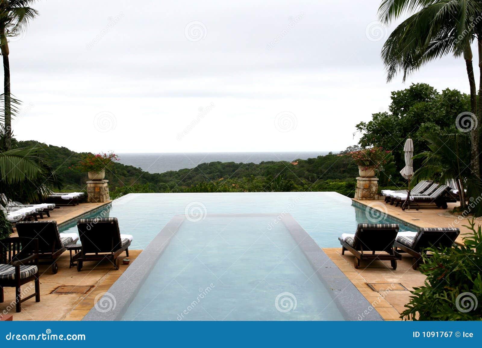 Het zwembad van de vakantie
