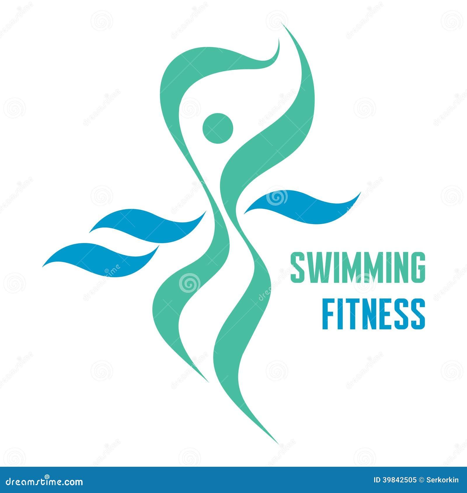 Het zwemmen Geschiktheid - Vectorlogo sign