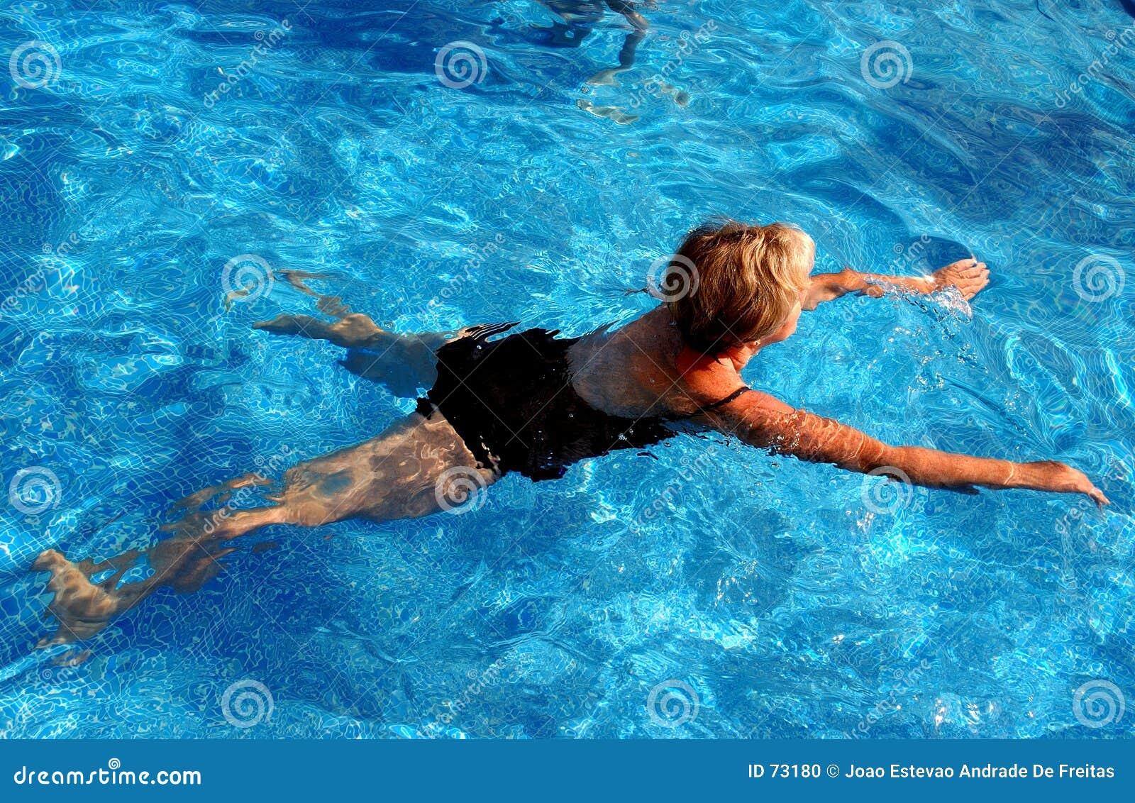 Het zwemmen van de vrouw