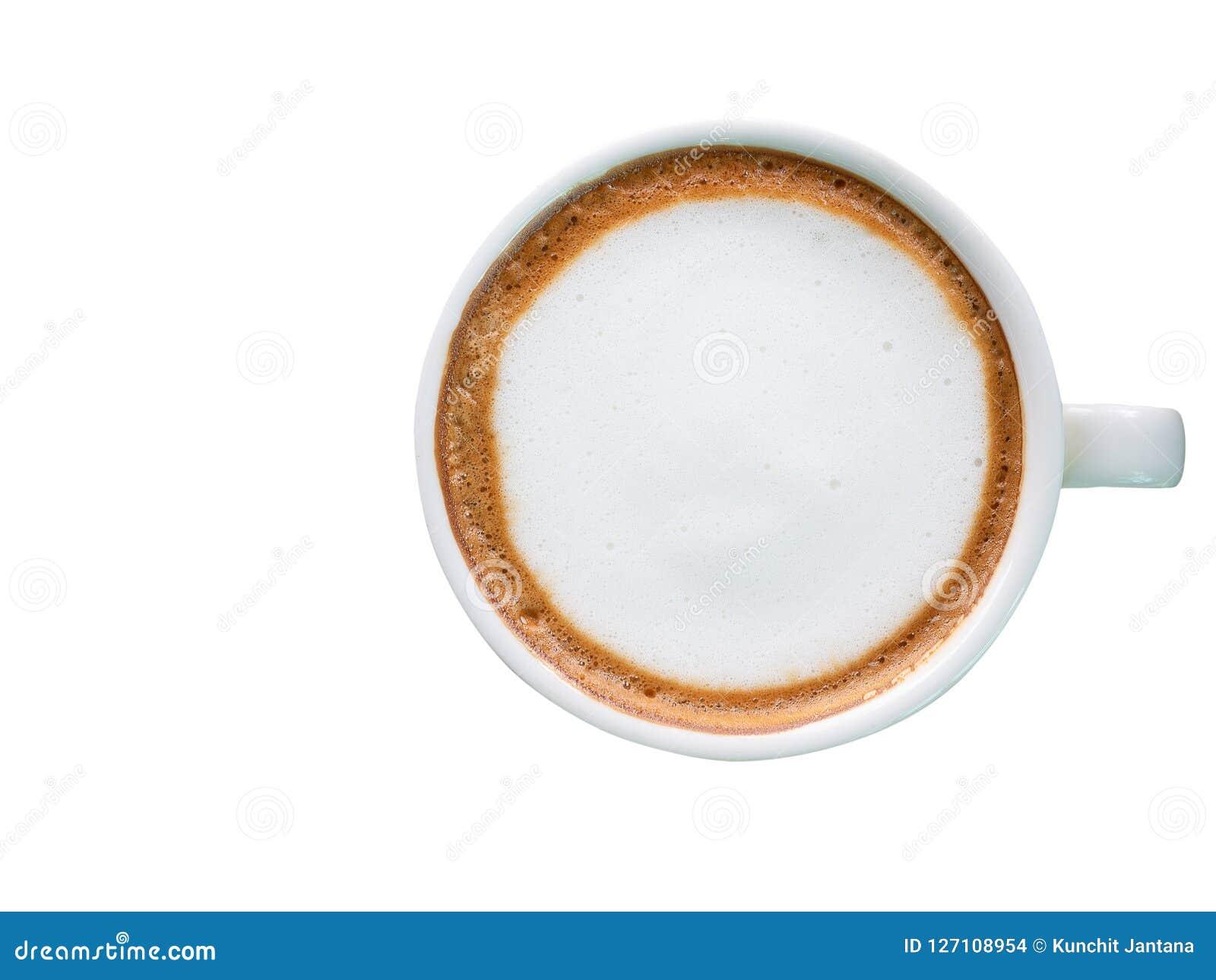 Hete koffie met schuimmelk