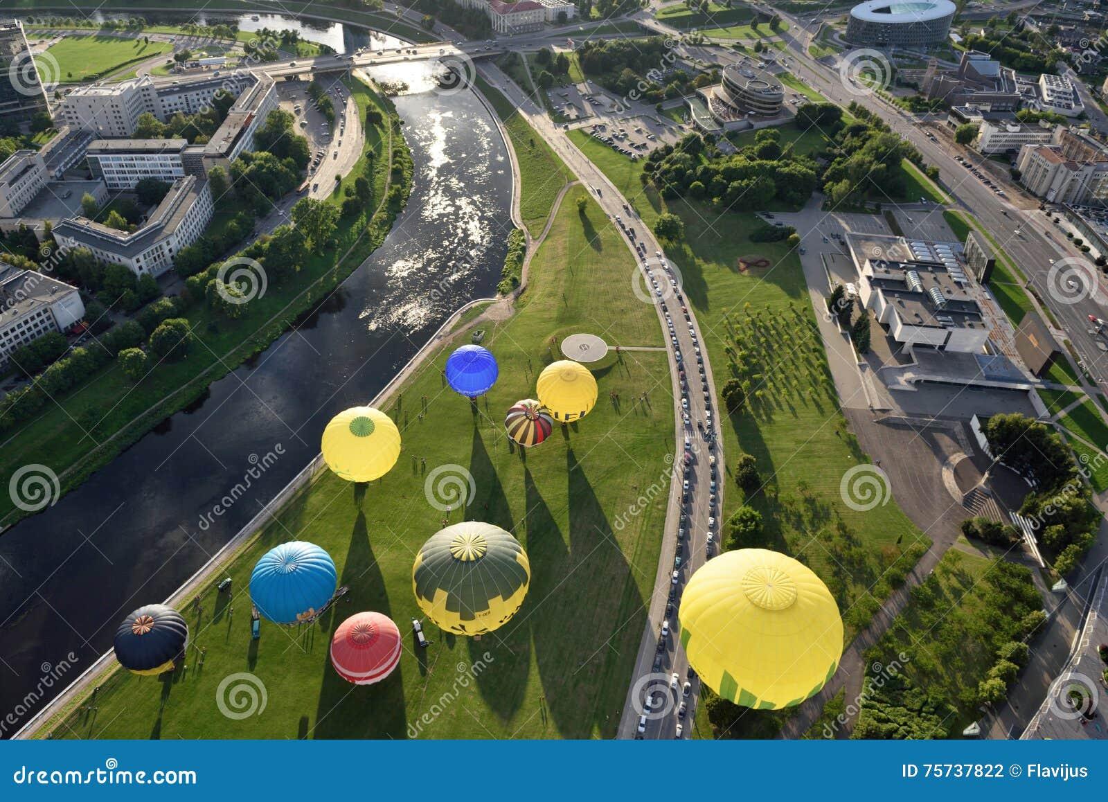 Hete luchtballons in Vilnius