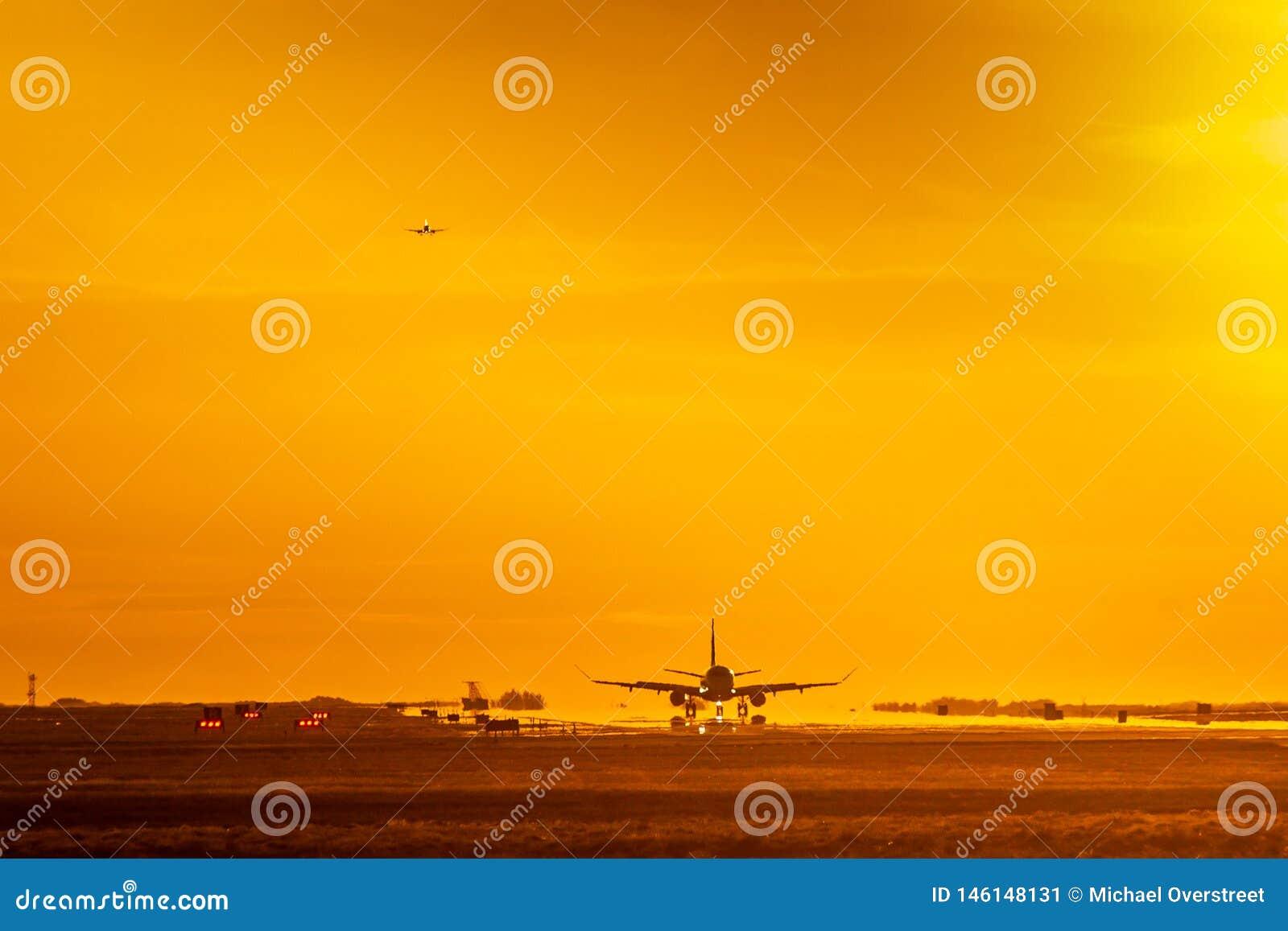 Hete zonsonderganglanding