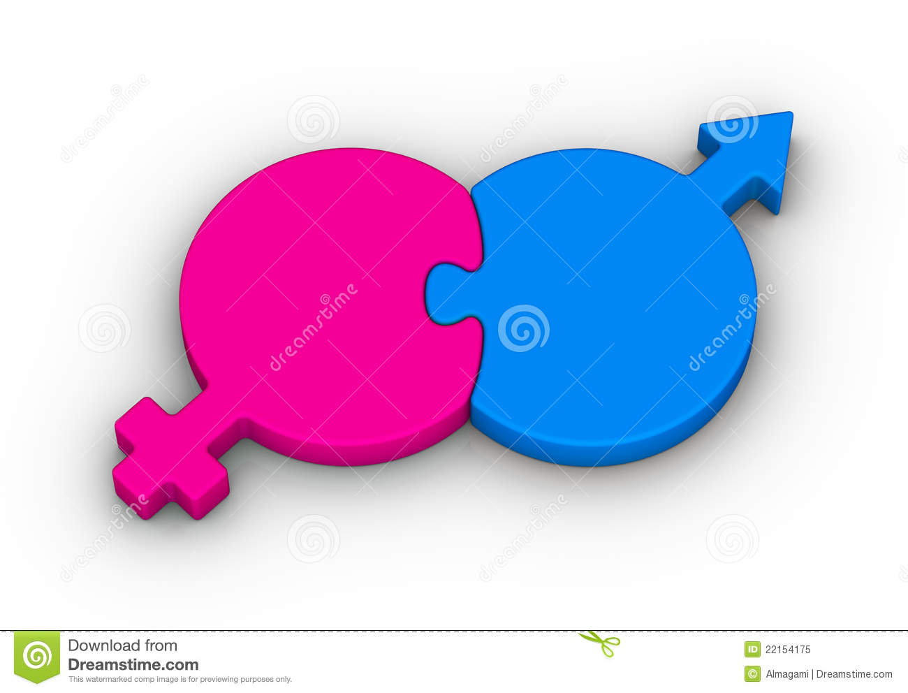 Heterosexual Couple Symbol Royalty Free Stock Photo - Image: 22154175