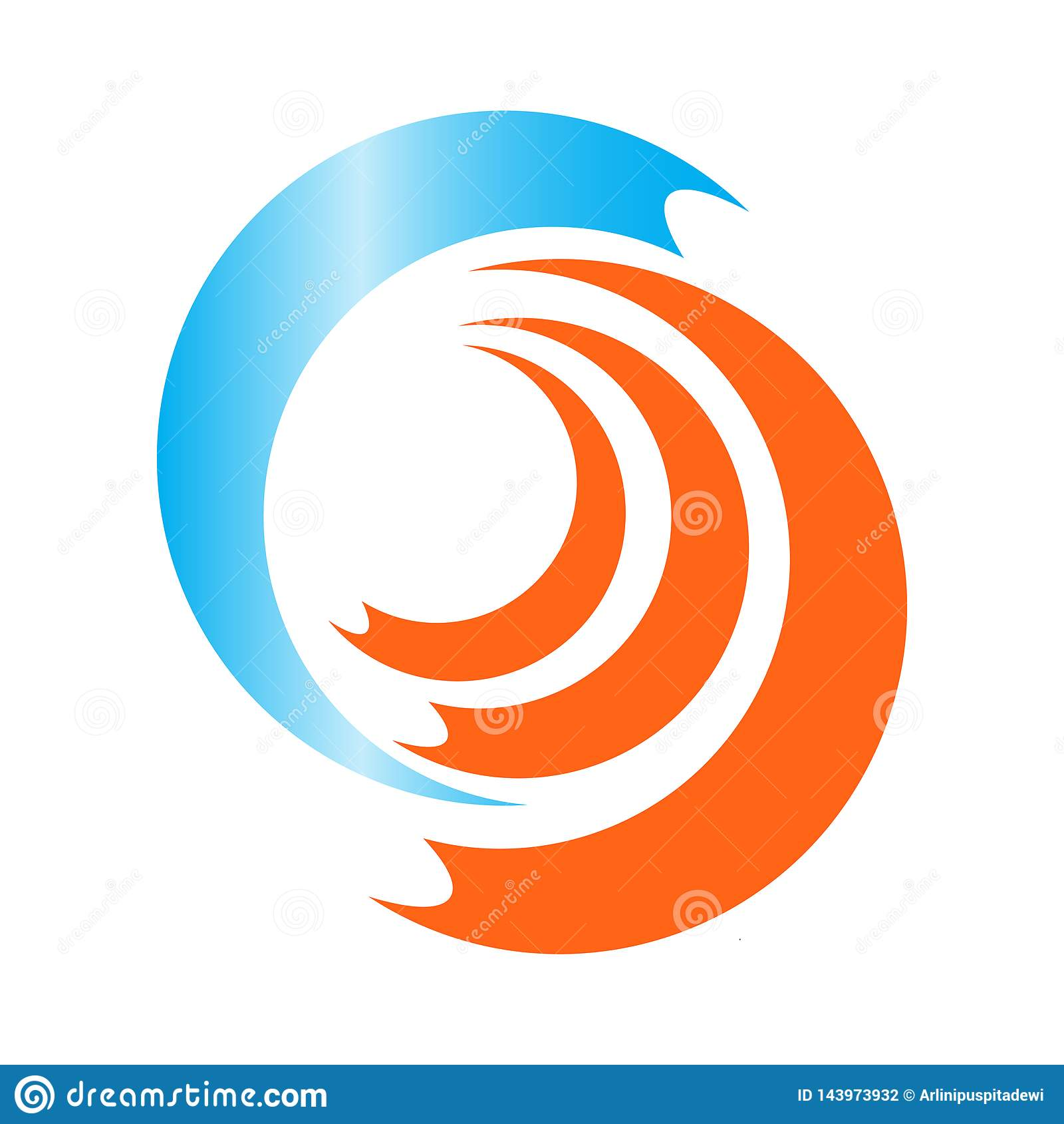 Hetzende Wellen-Vektor-Illustration