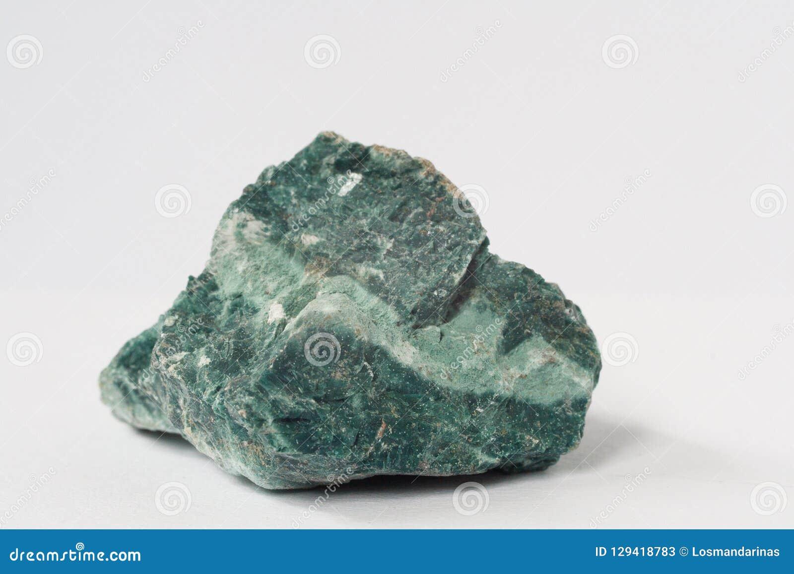 Heulandite mineral on white background