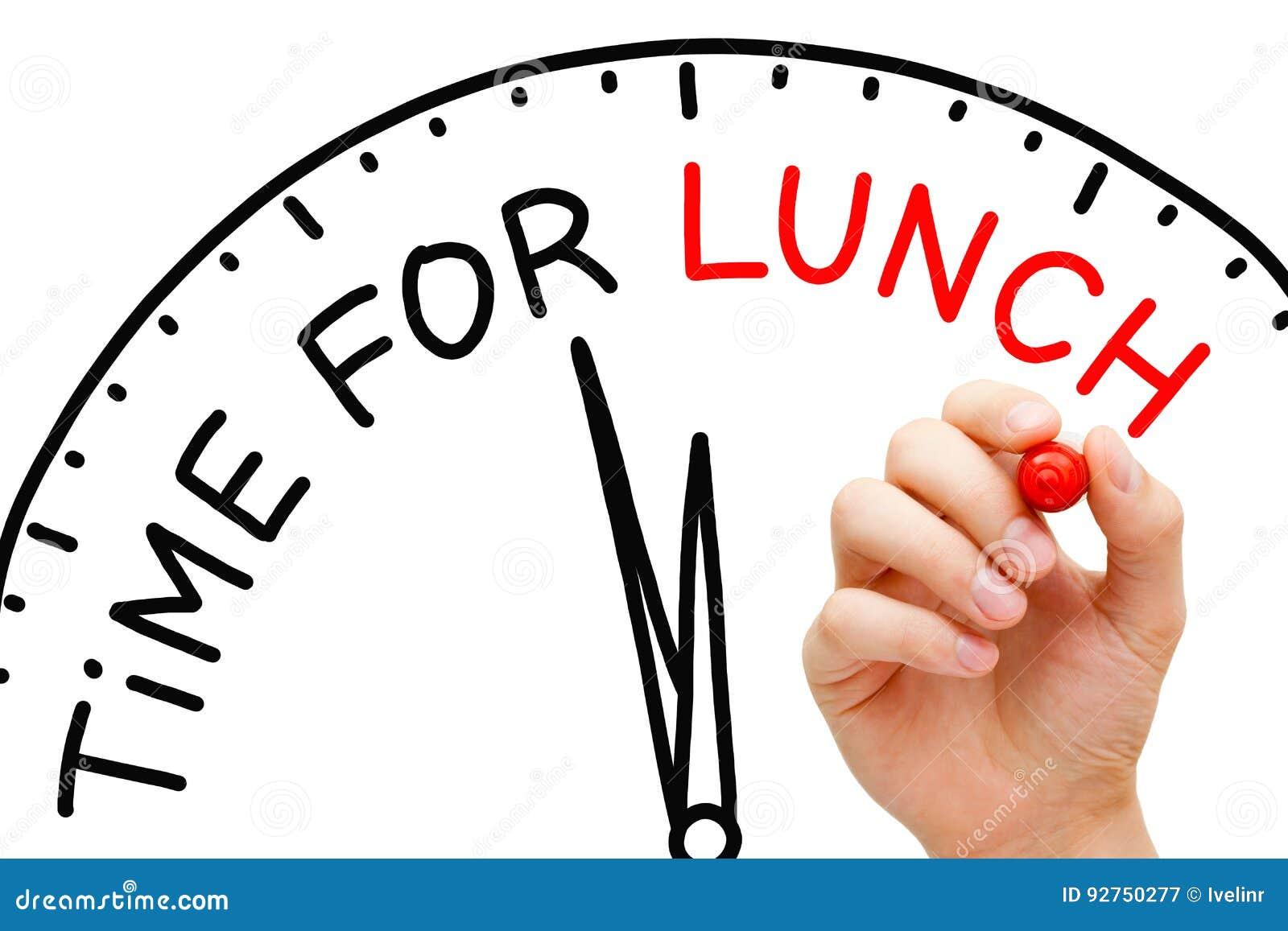 Heure pour le déjeuner