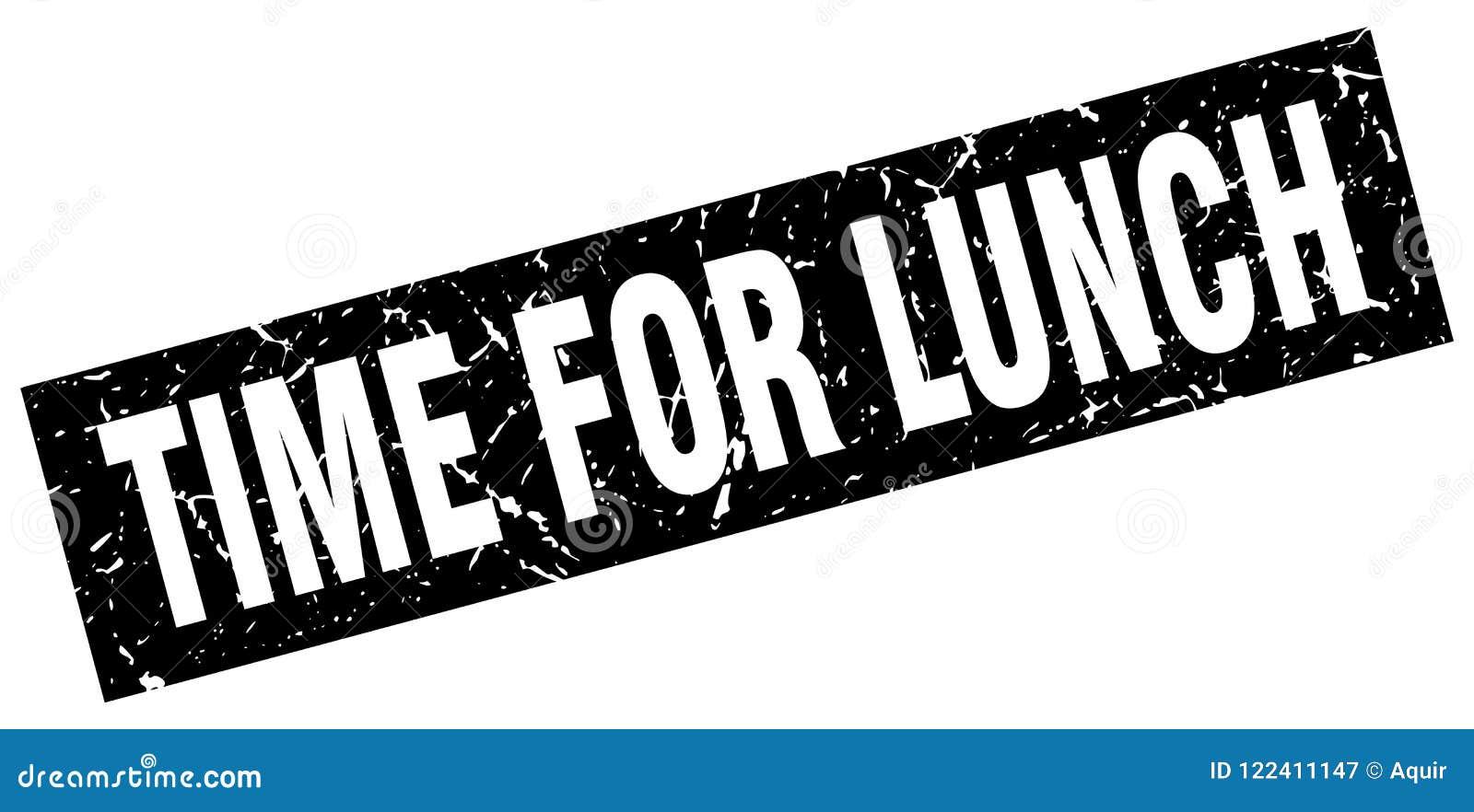 Heure pour le timbre de déjeuner
