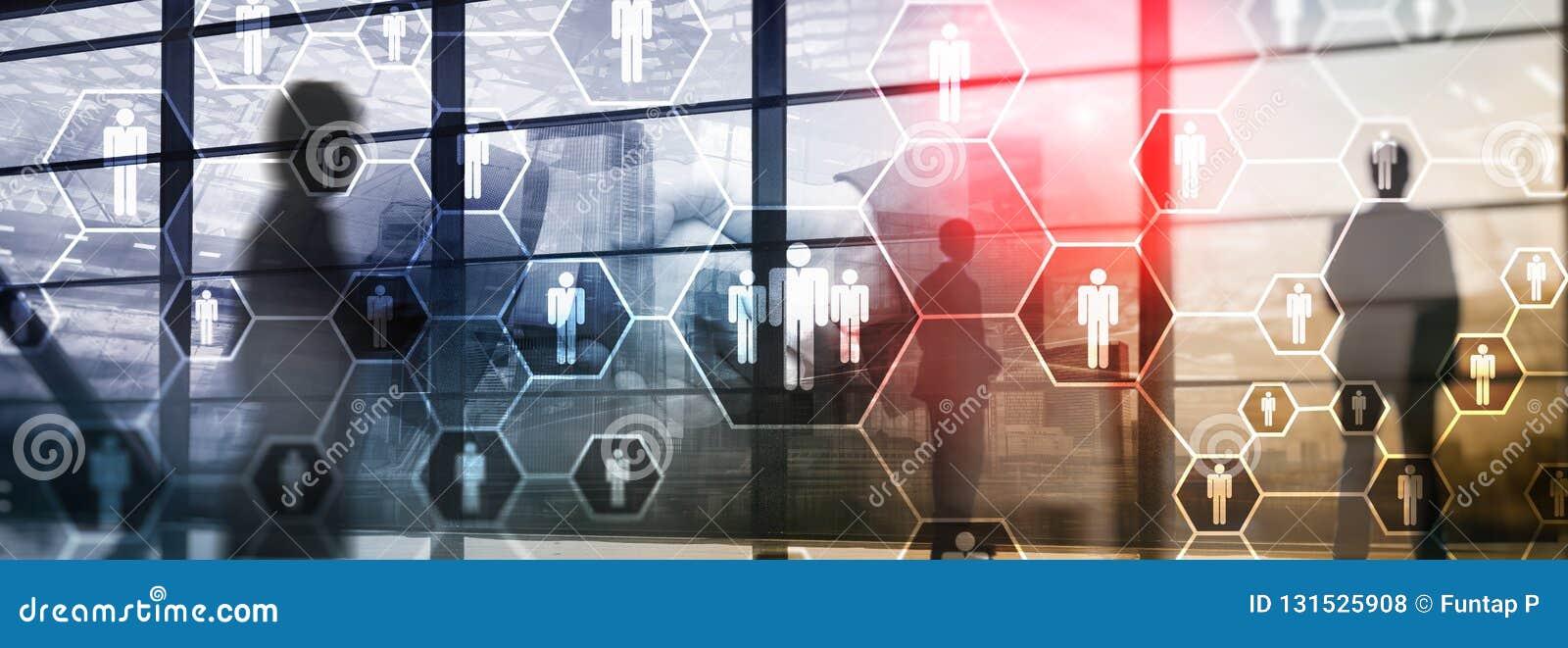 Heure, structure de ressources humaines, de recrutement, d organisation et concept social de réseau