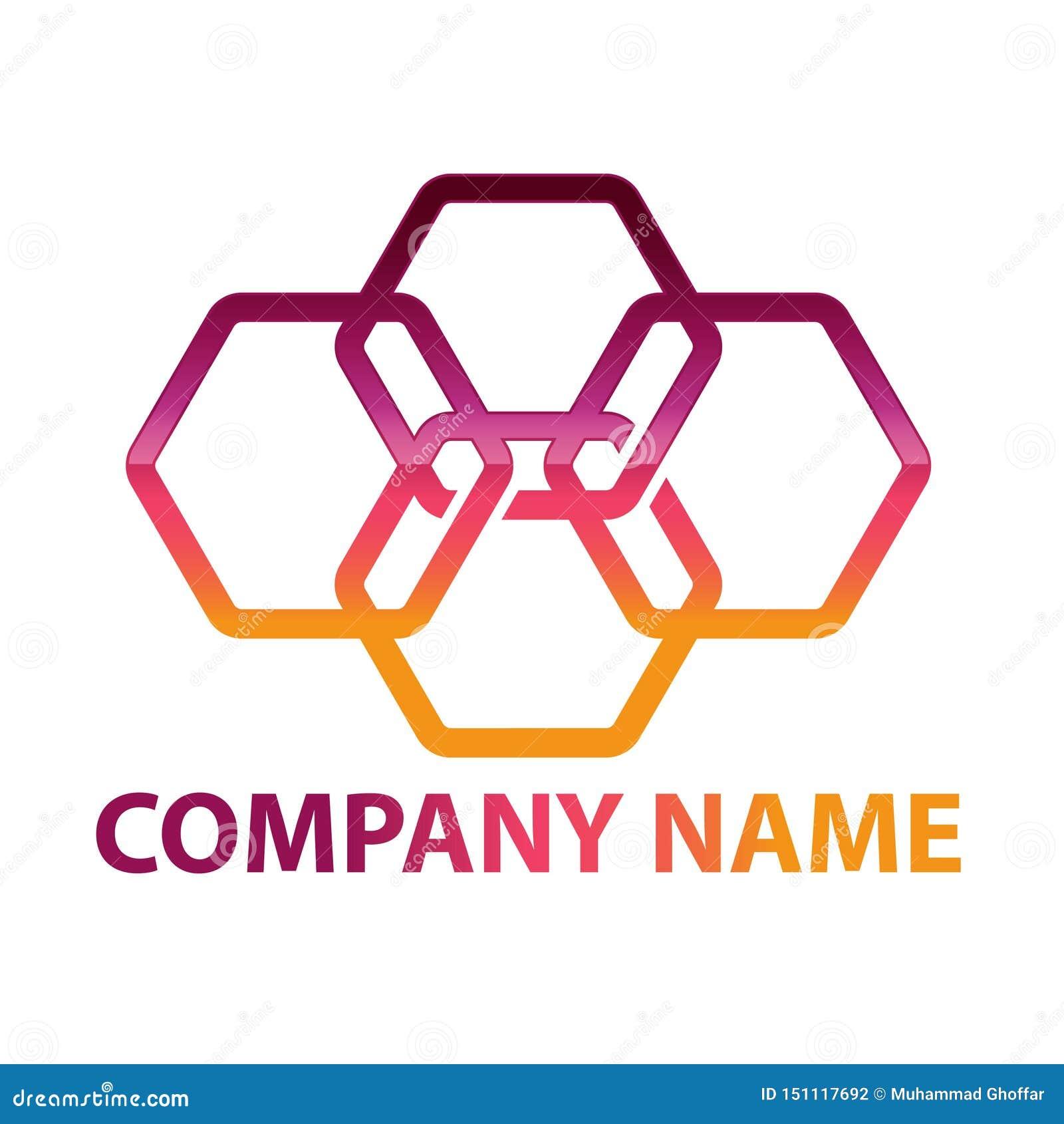Hex?gono - ejemplo del concepto del logotipo del vector Logotipo poligonal geom?trico del hex?gono