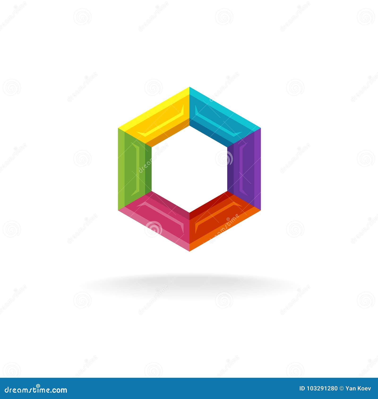 Hex techniki geometryczny logo